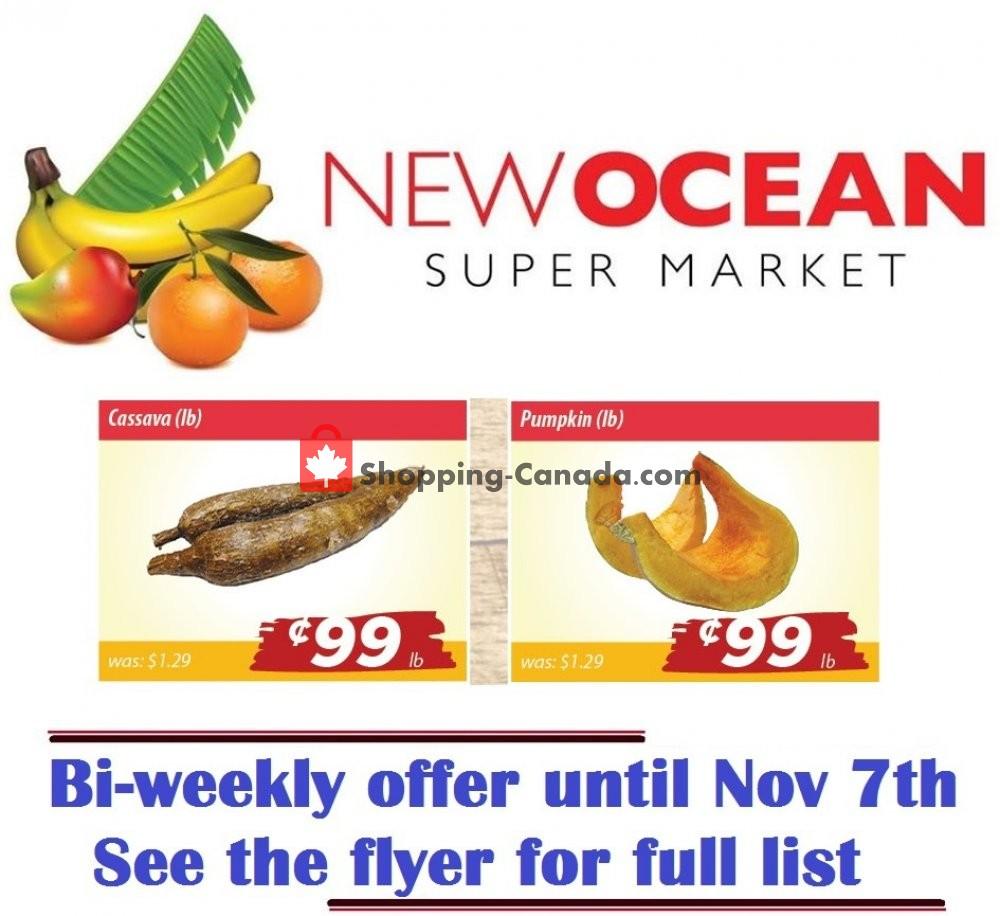 Flyer New Ocean Supermarket Canada - from Thursday November 7, 2019 to Thursday November 7, 2019