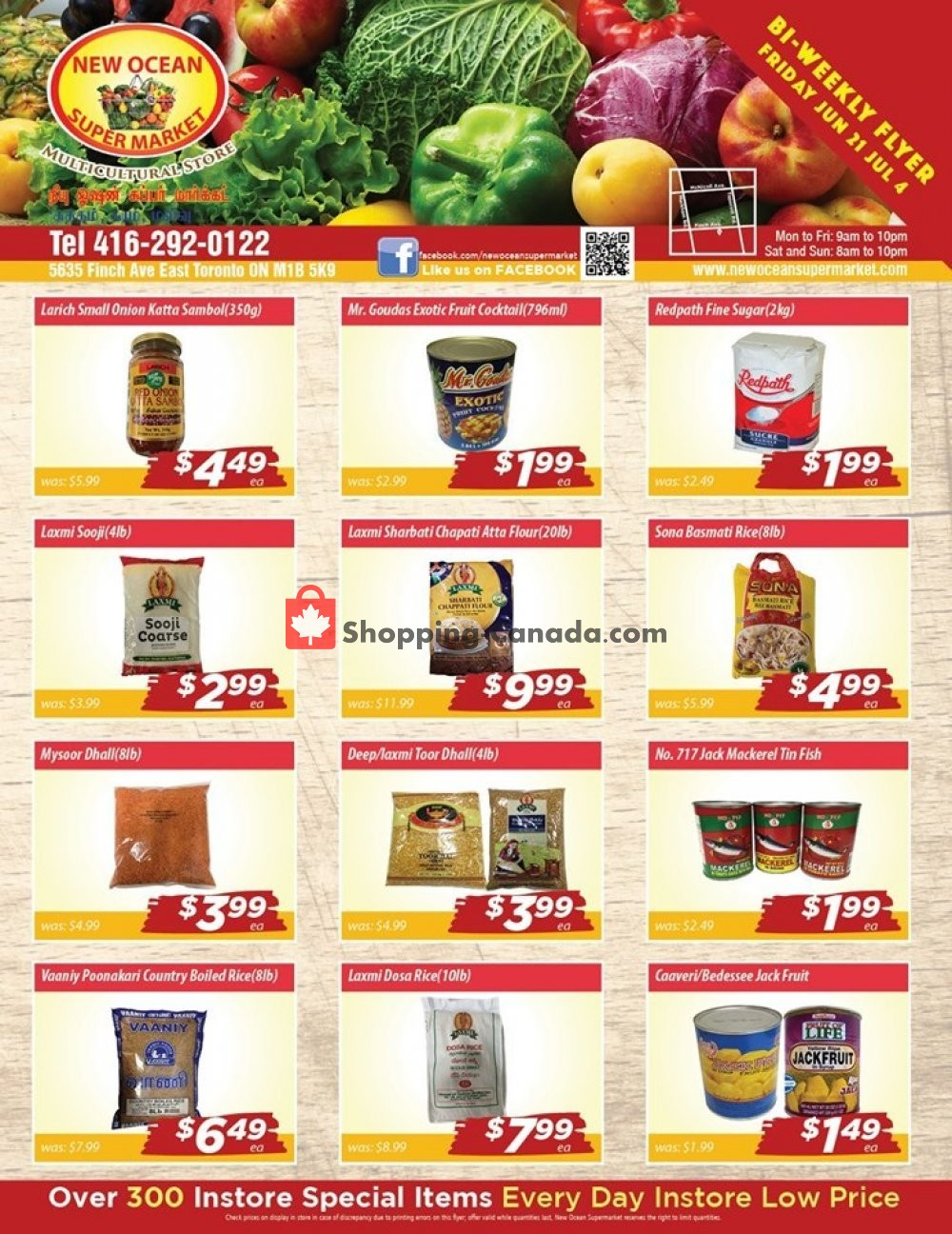Flyer New Ocean Supermarket Canada - from Friday June 21, 2019 to Thursday July 4, 2019