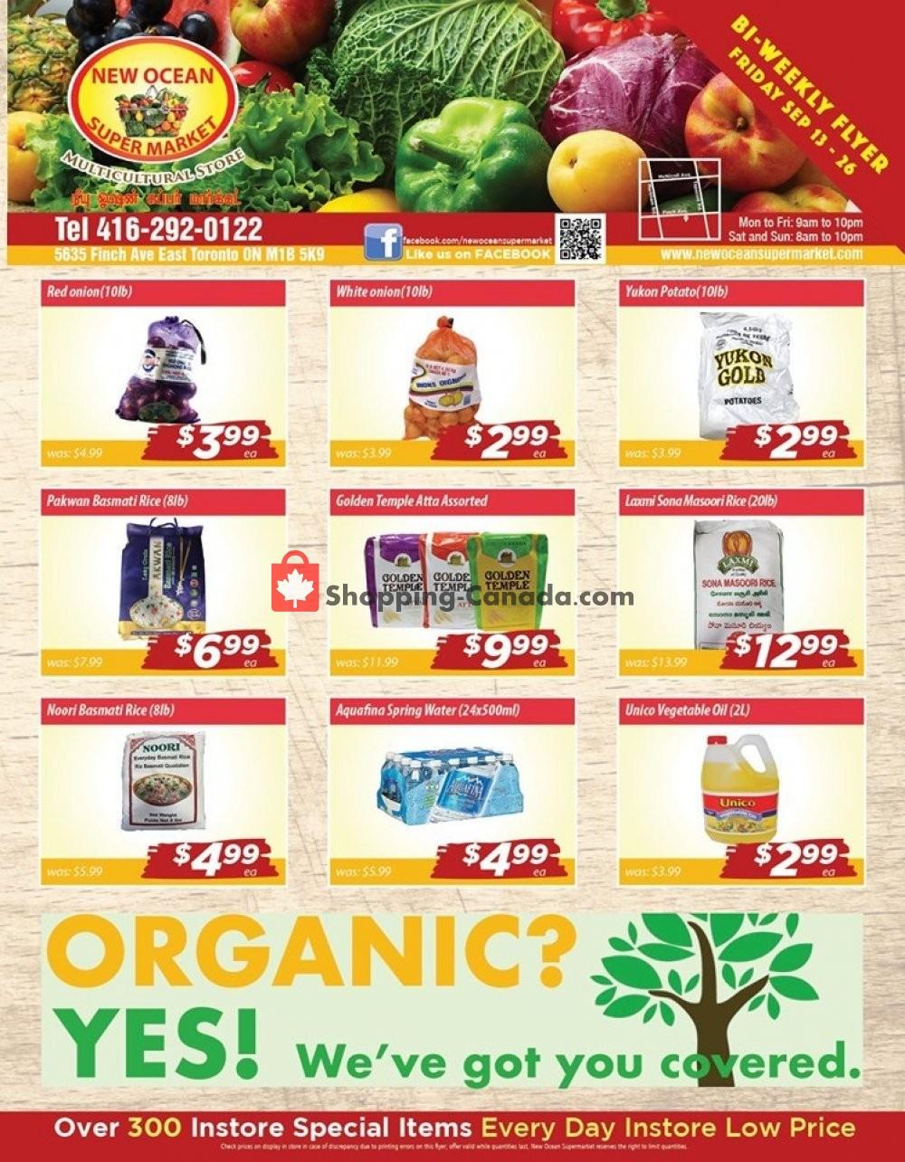 Flyer New Ocean Supermarket Canada - from Friday September 13, 2019 to Thursday September 26, 2019
