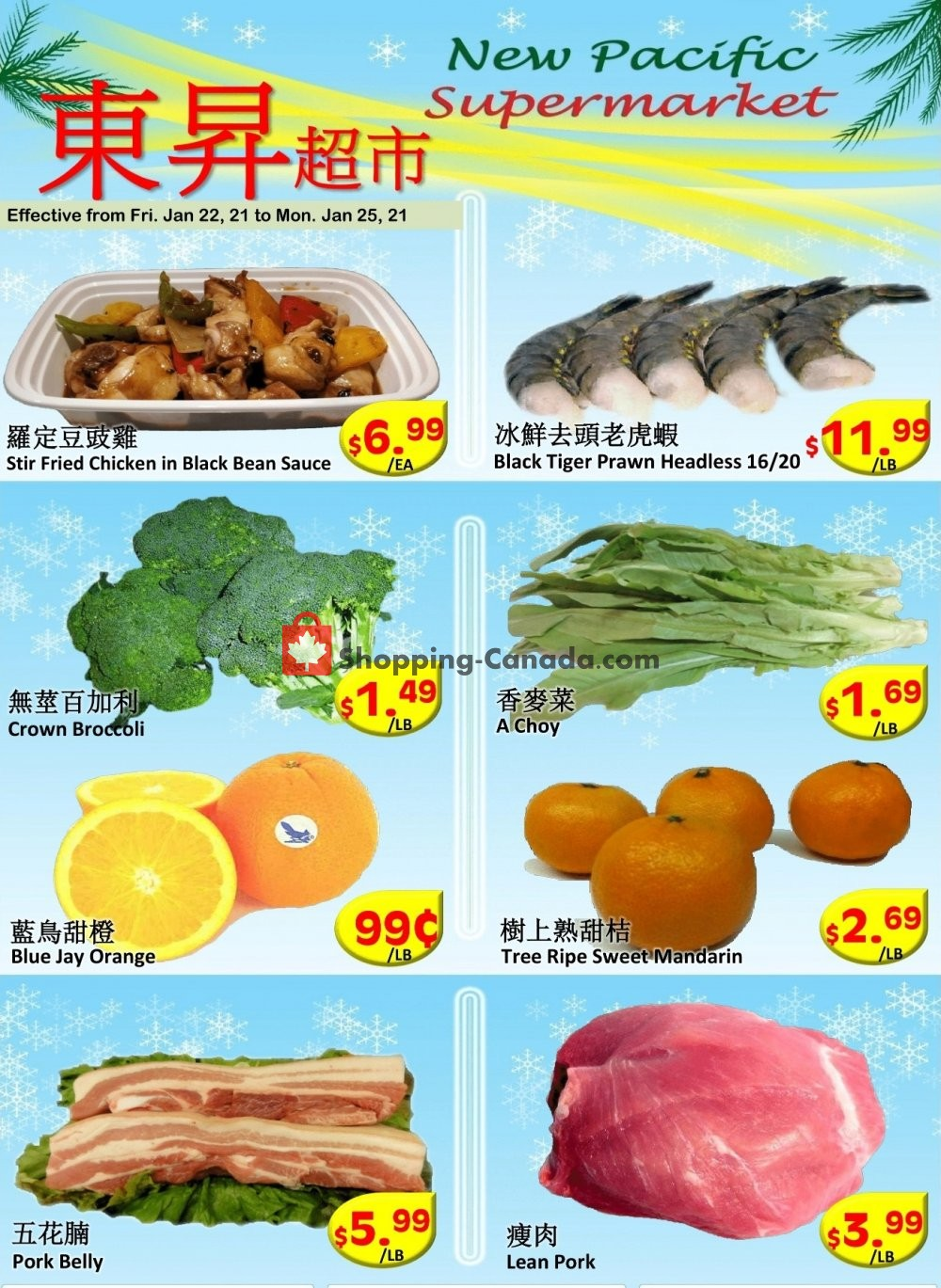 Flyer New Pacific Supermarket Canada - from Friday January 22, 2021 to Monday January 25, 2021