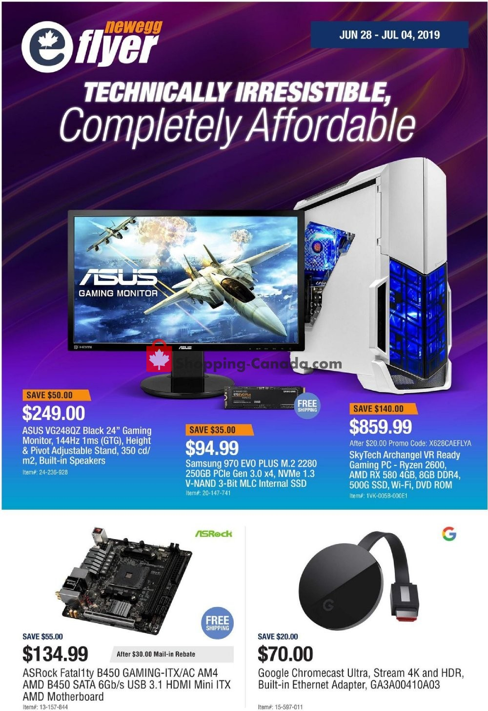Flyer Newegg Canada - from Friday June 28, 2019 to Thursday July 4, 2019