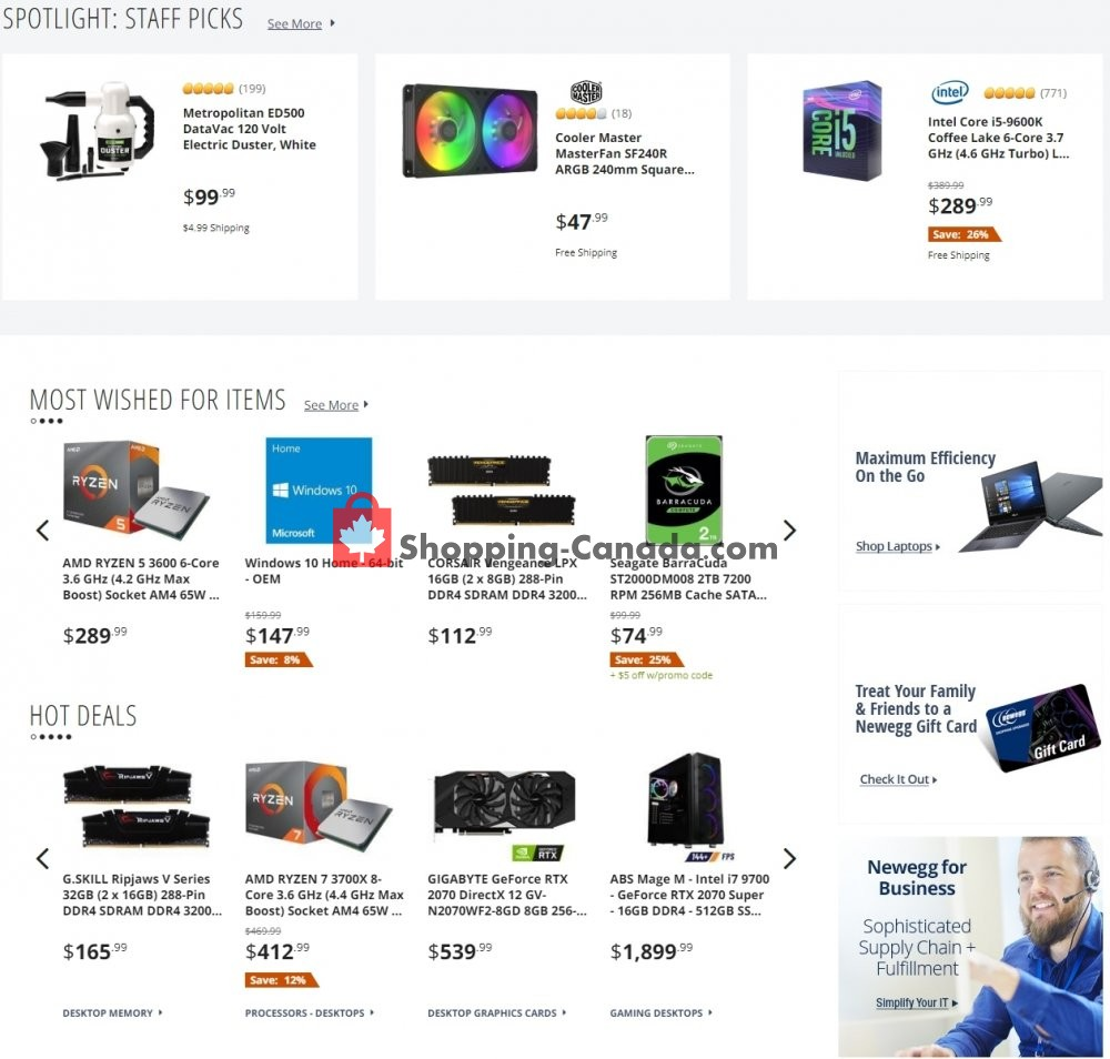 Flyer Newegg Canada - from Wednesday July 8, 2020 to Tuesday July 14, 2020