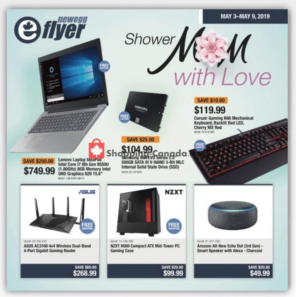 Flyer Newegg Canada - from Friday May 3, 2019 to Thursday May 9, 2019