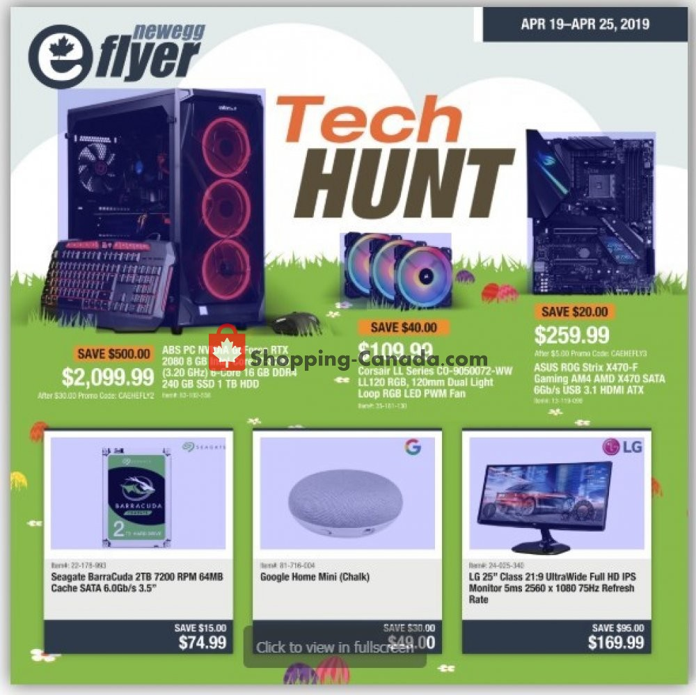 Flyer Newegg Canada - from Friday April 19, 2019 to Thursday April 25, 2019