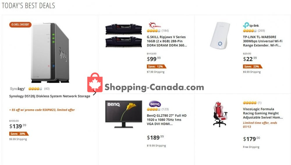 Flyer Newegg Canada - from Friday July 10, 2020 to Friday July 10, 2020