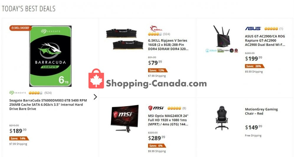 Flyer Newegg Canada - from Wednesday July 15, 2020 to Wednesday July 15, 2020
