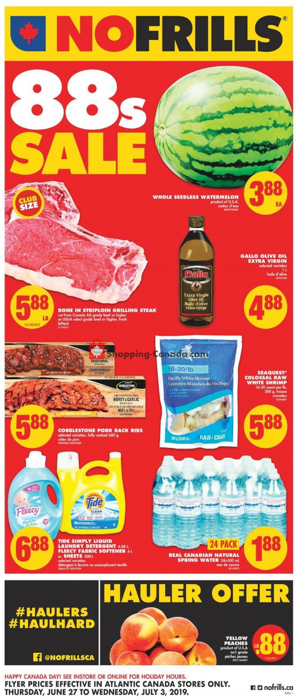 Flyer No Frills Canada - from Thursday June 27, 2019 to Wednesday July 3, 2019