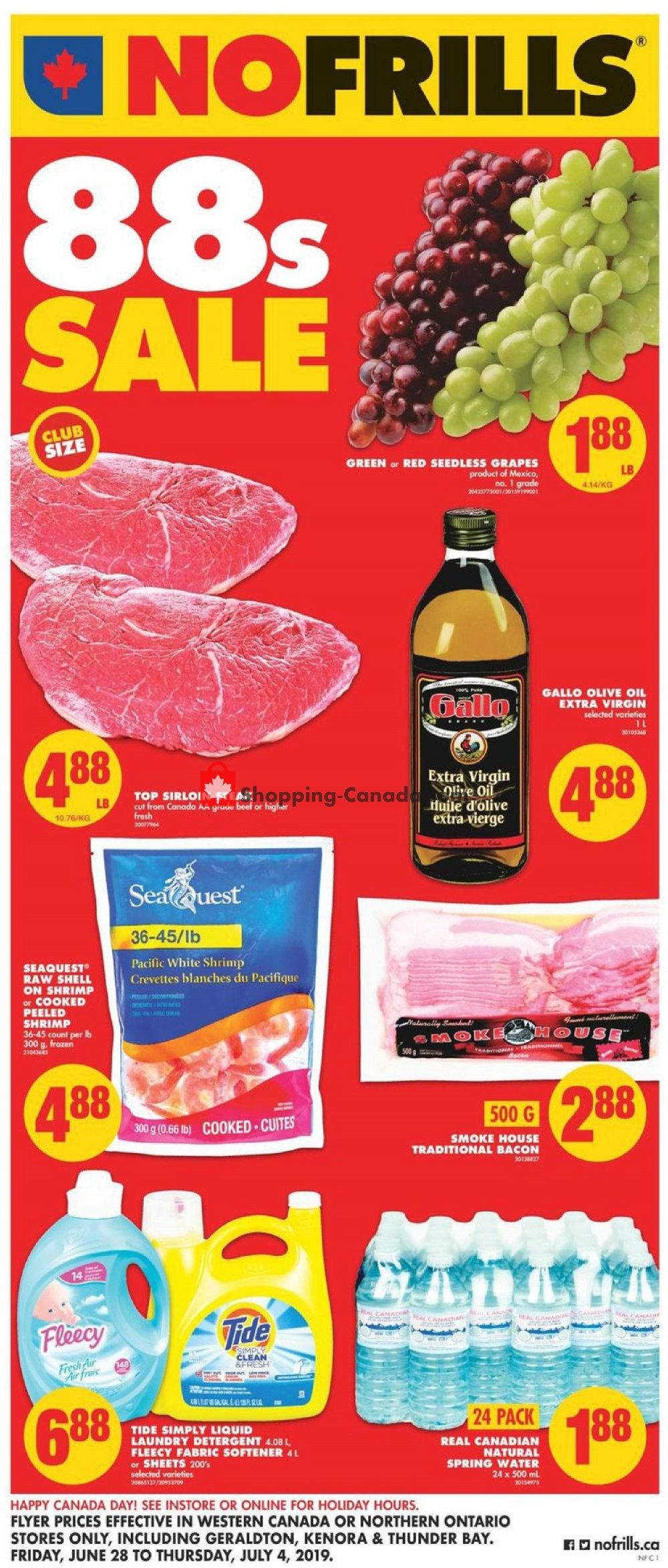 Flyer No Frills Canada - from Friday June 28, 2019 to Thursday July 4, 2019