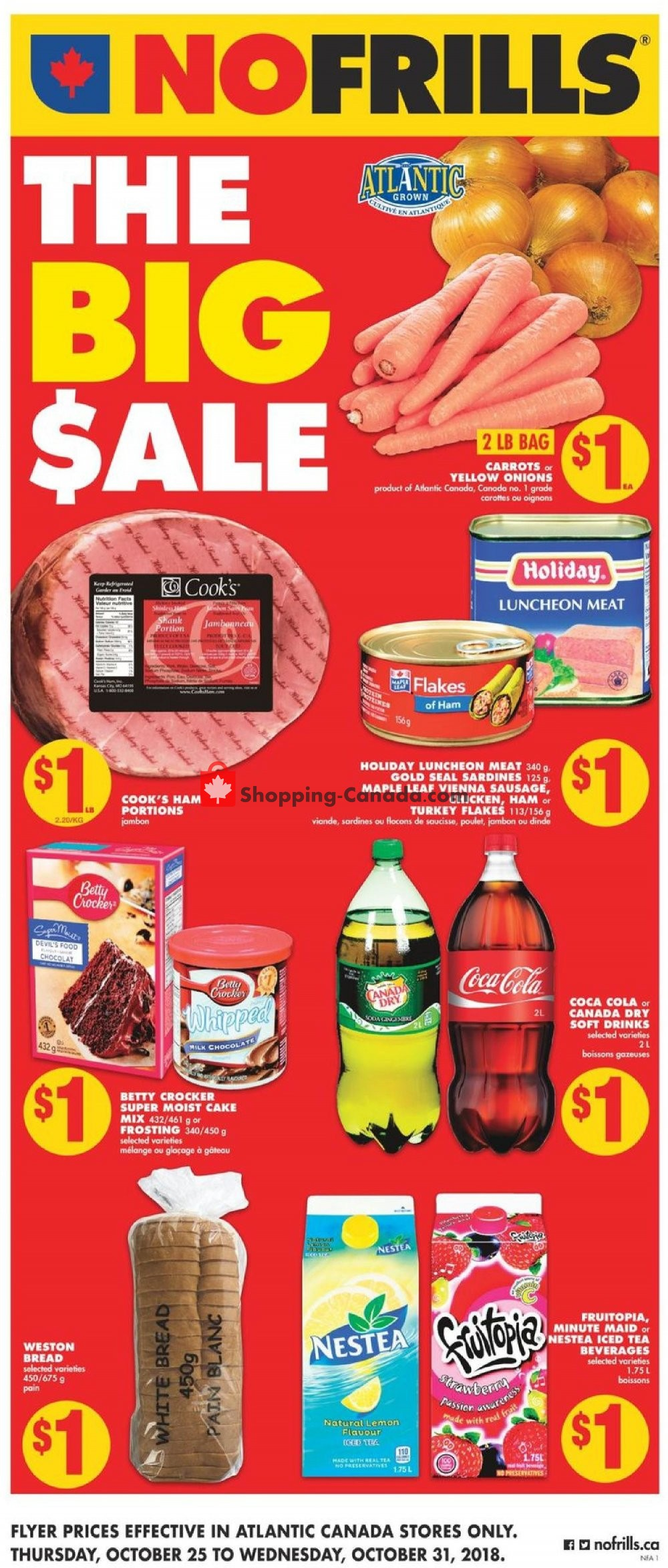 Flyer No Frills Canada - from Thursday October 25, 2018 to Wednesday October 31, 2018