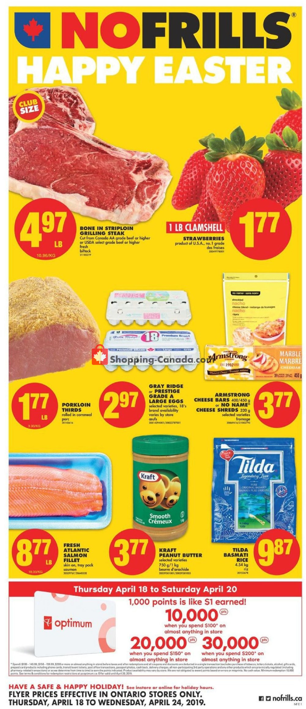 Flyer No Frills Canada - from Thursday April 18, 2019 to Wednesday April 24, 2019