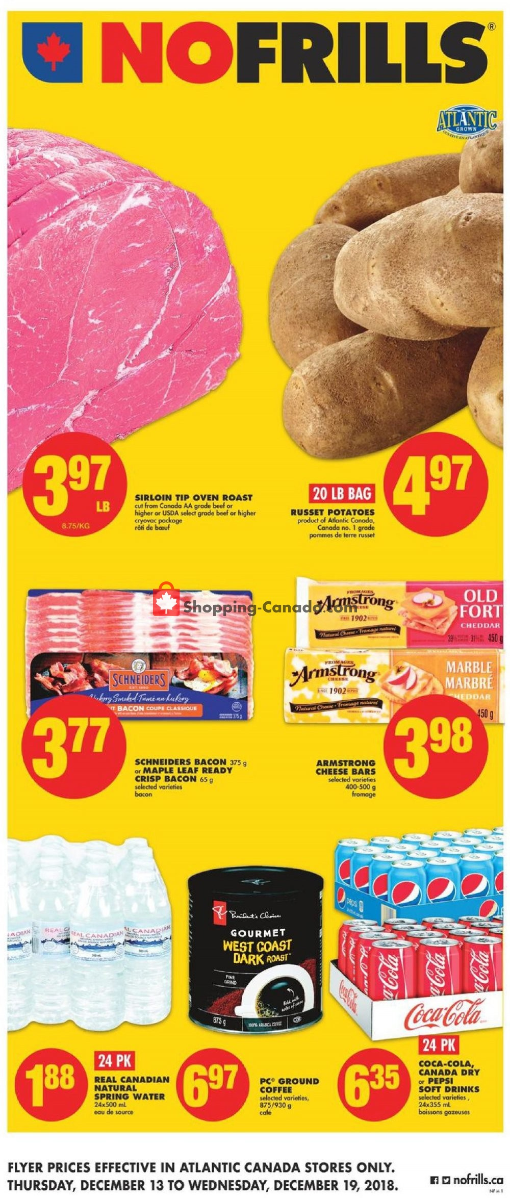 Flyer No Frills Canada - from Thursday December 13, 2018 to Wednesday December 19, 2018