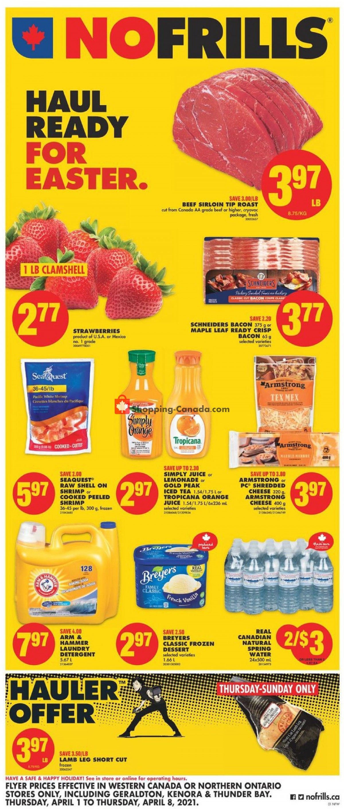 Flyer No Frills Canada - from Thursday April 1, 2021 to Thursday April 8, 2021