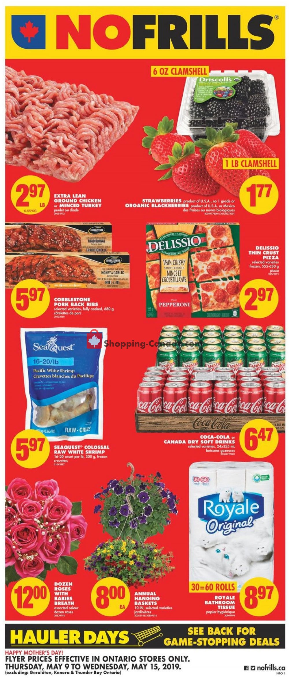 Flyer No Frills Canada - from Thursday May 9, 2019 to Wednesday May 15, 2019