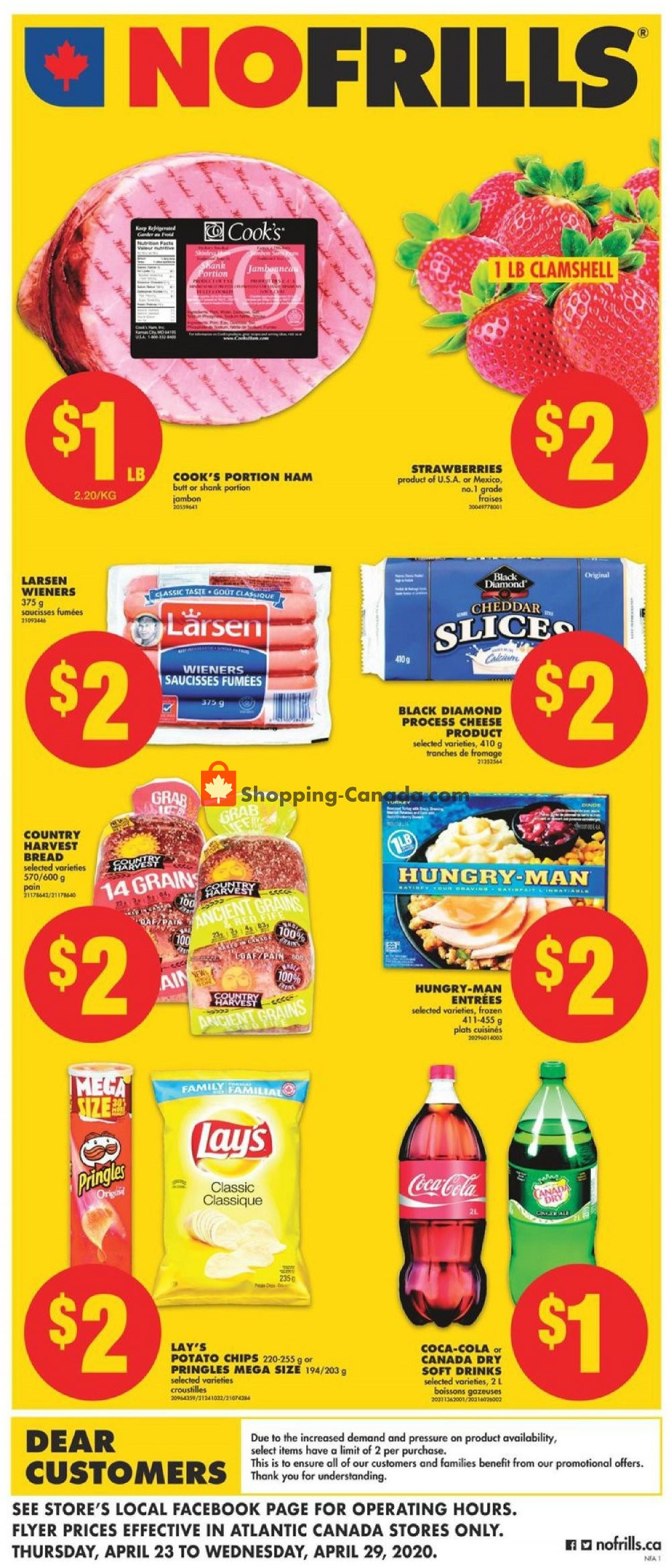 Flyer No Frills Canada - from Thursday April 23, 2020 to Wednesday April 29, 2020