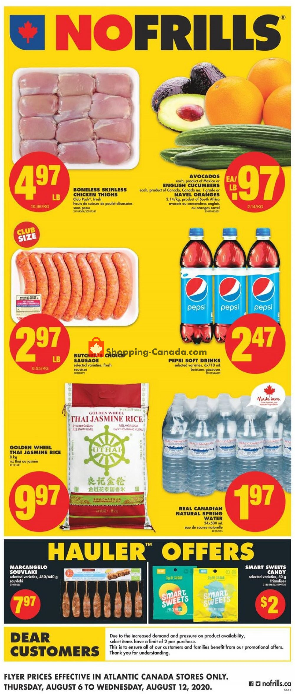 Flyer No Frills Canada - from Thursday August 6, 2020 to Wednesday August 12, 2020