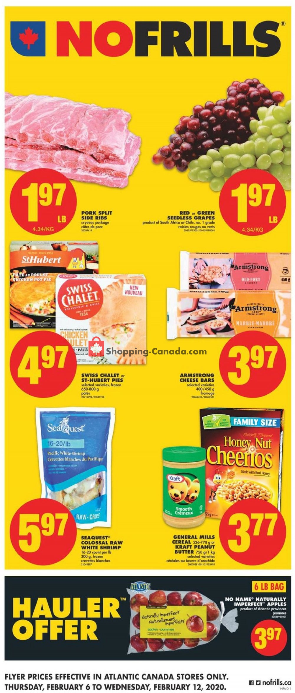 Flyer No Frills Canada - from Thursday February 6, 2020 to Wednesday February 12, 2020