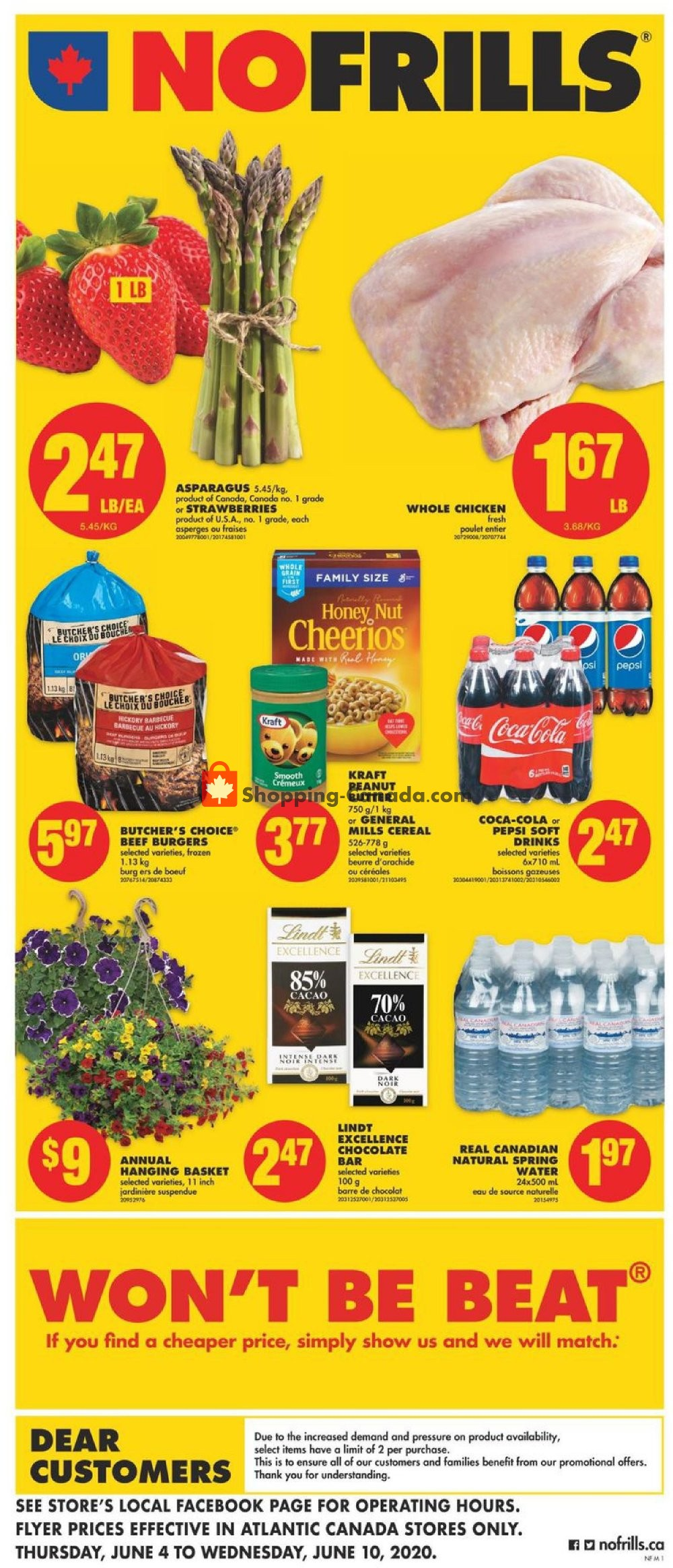 Flyer No Frills Canada - from Thursday June 4, 2020 to Wednesday June 10, 2020