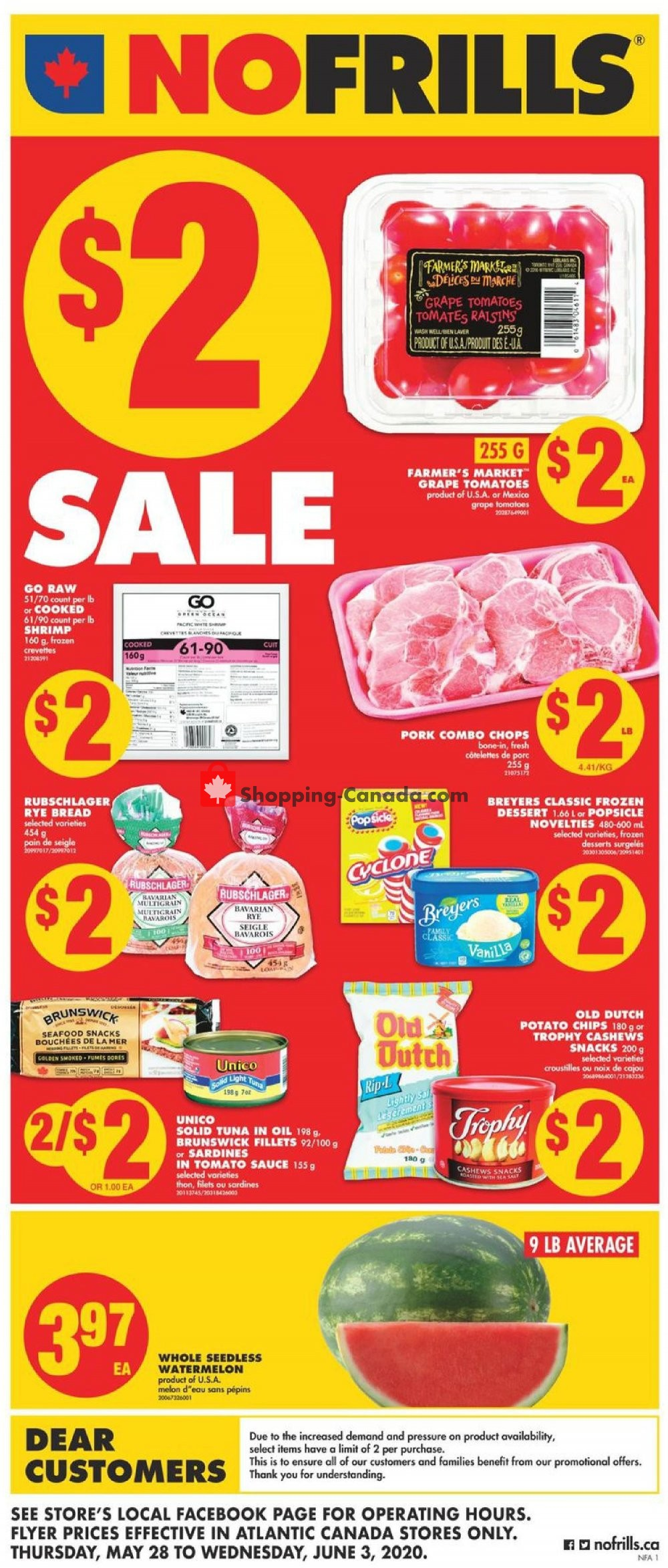 Flyer No Frills Canada - from Thursday May 28, 2020 to Wednesday June 3, 2020