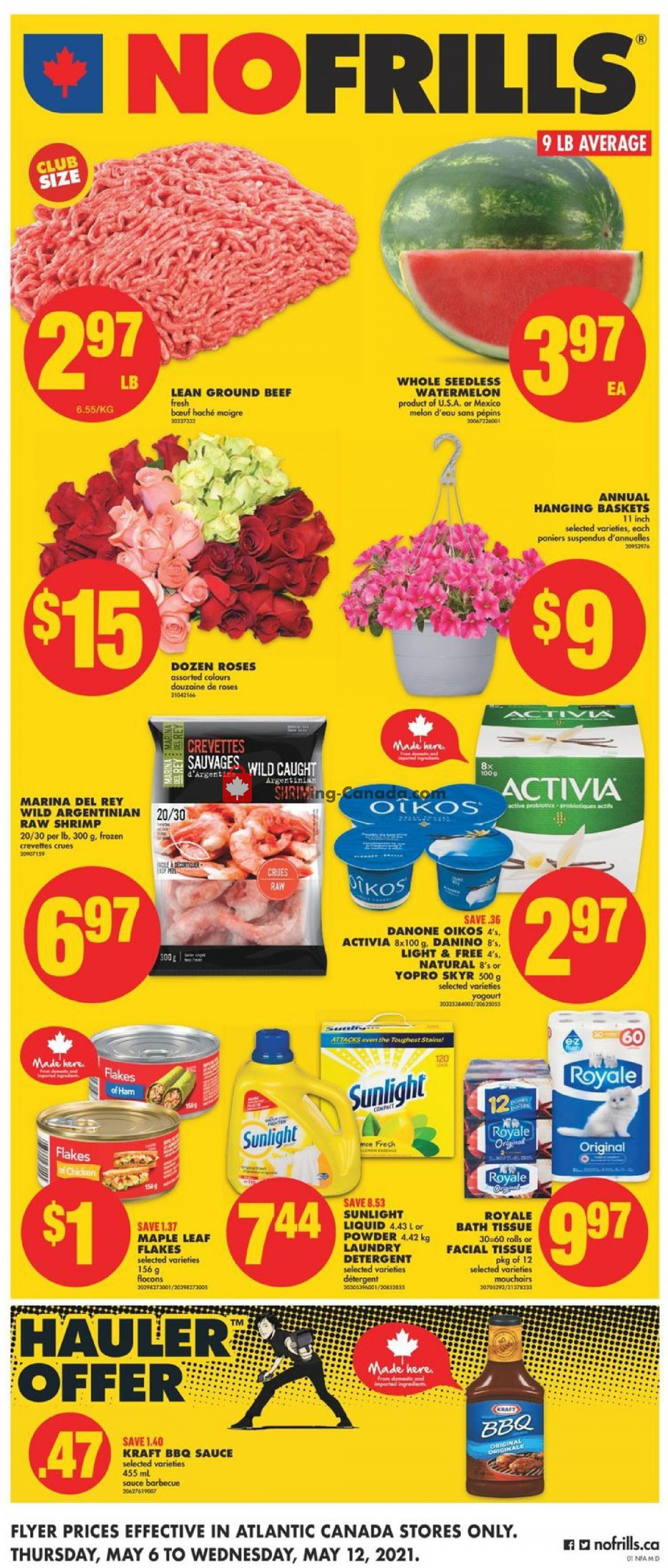 Flyer No Frills Canada - from Thursday May 6, 2021 to Wednesday May 12, 2021