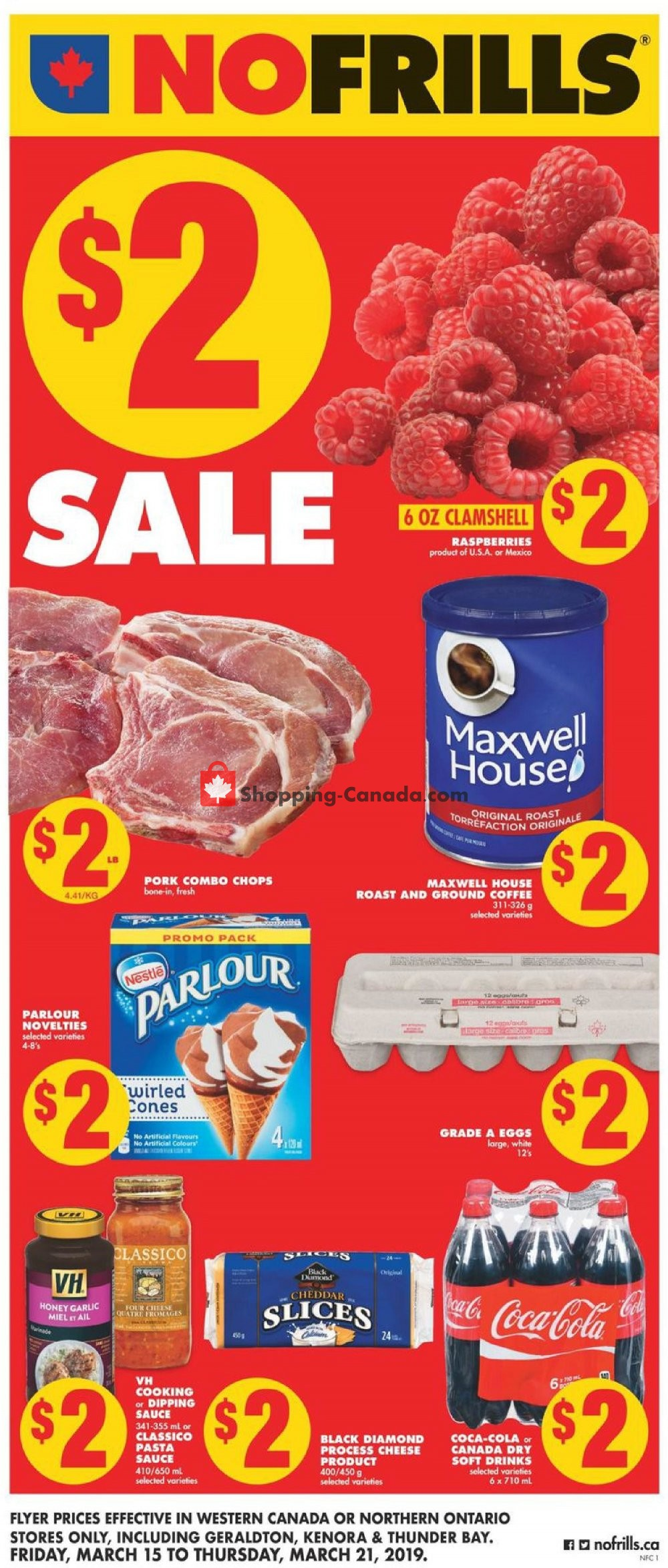 Flyer No Frills Canada - from Friday March 15, 2019 to Thursday March 21, 2019
