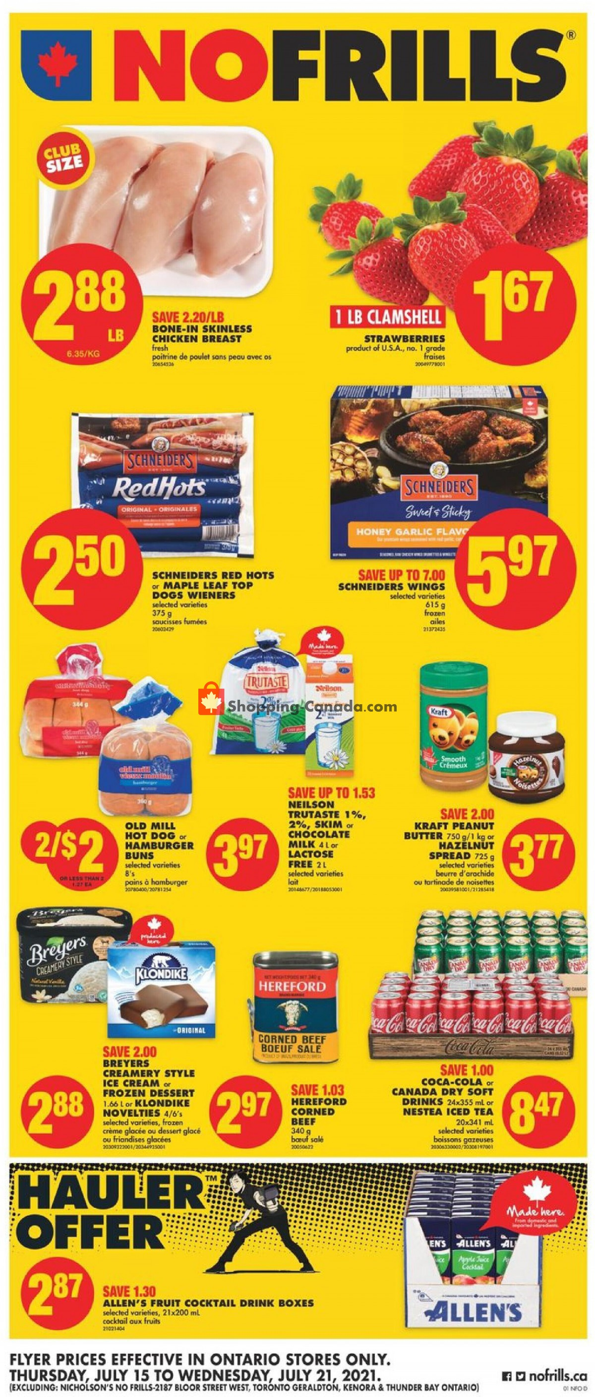 Flyer No Frills Canada - from Thursday July 15, 2021 to Wednesday July 21, 2021