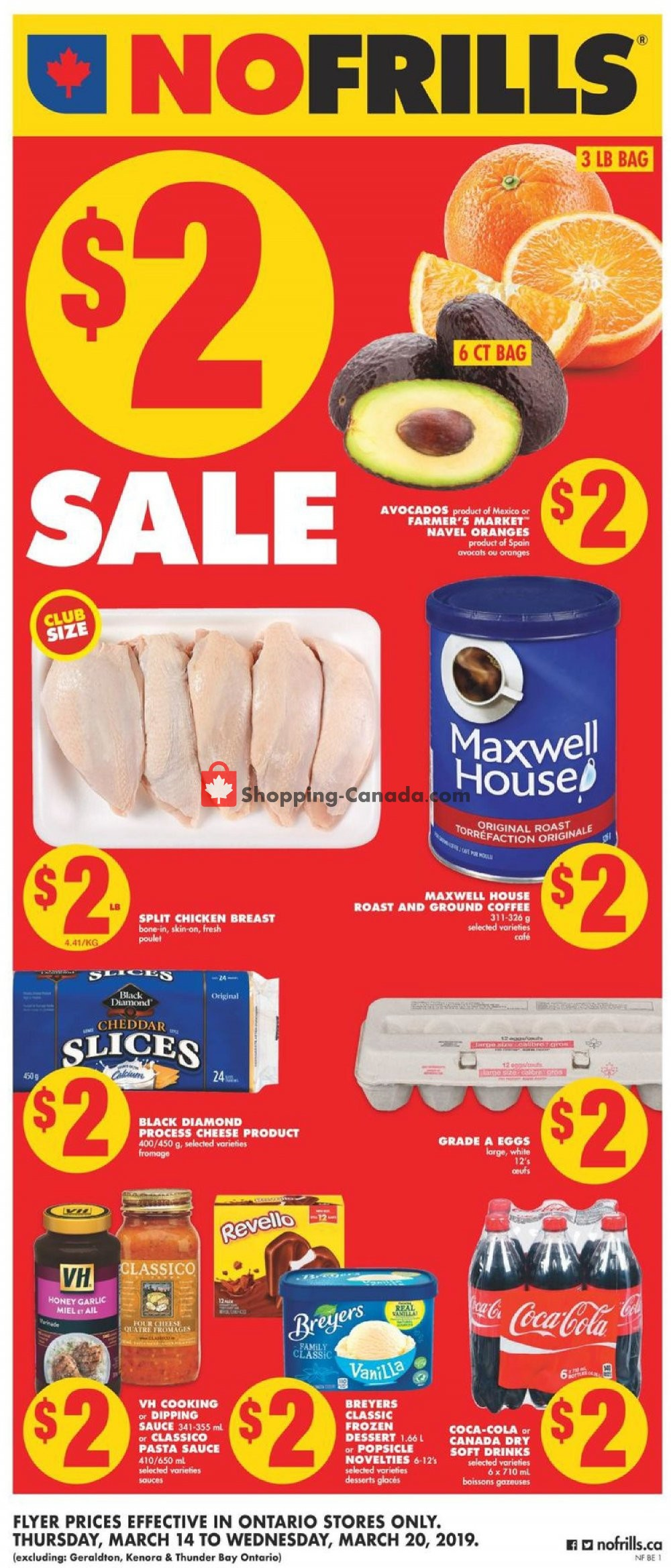 Flyer No Frills Canada - from Thursday March 14, 2019 to Wednesday March 20, 2019