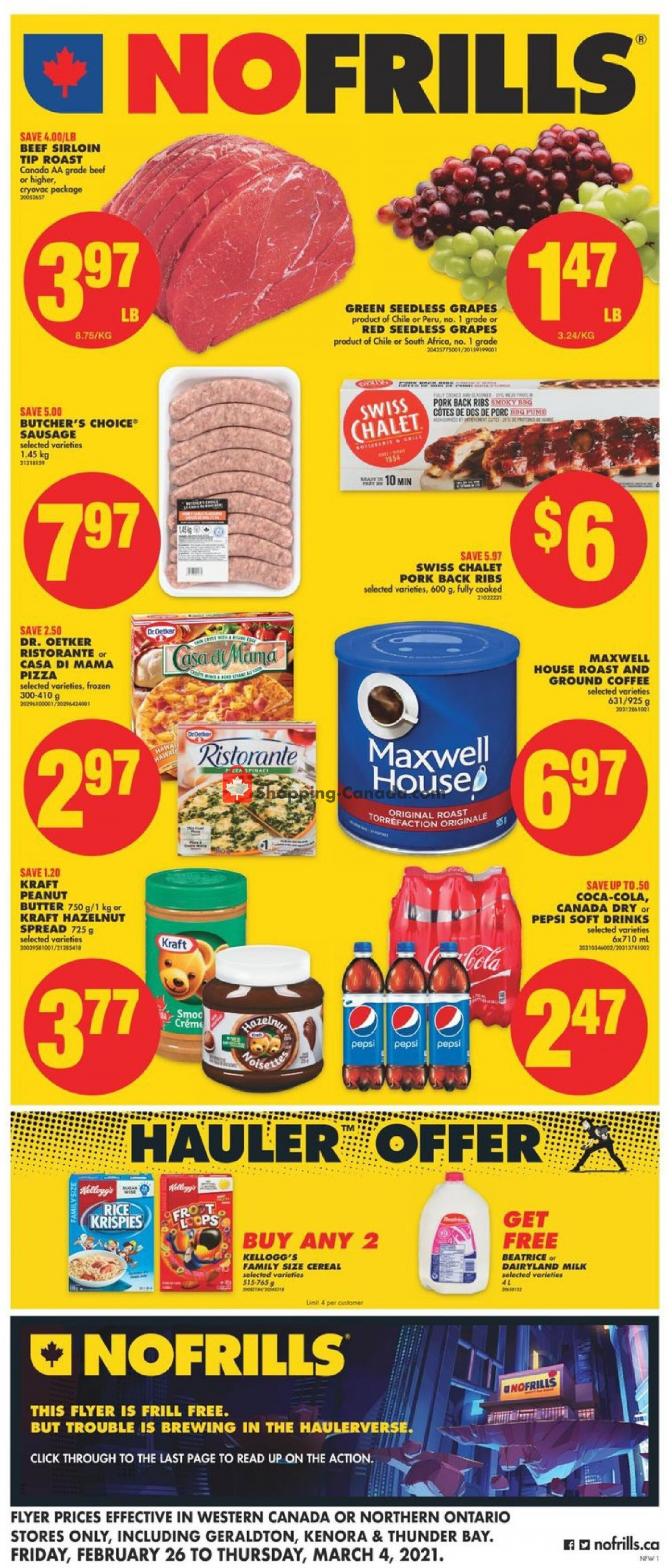 Flyer No Frills Canada - from Friday February 26, 2021 to Thursday March 4, 2021