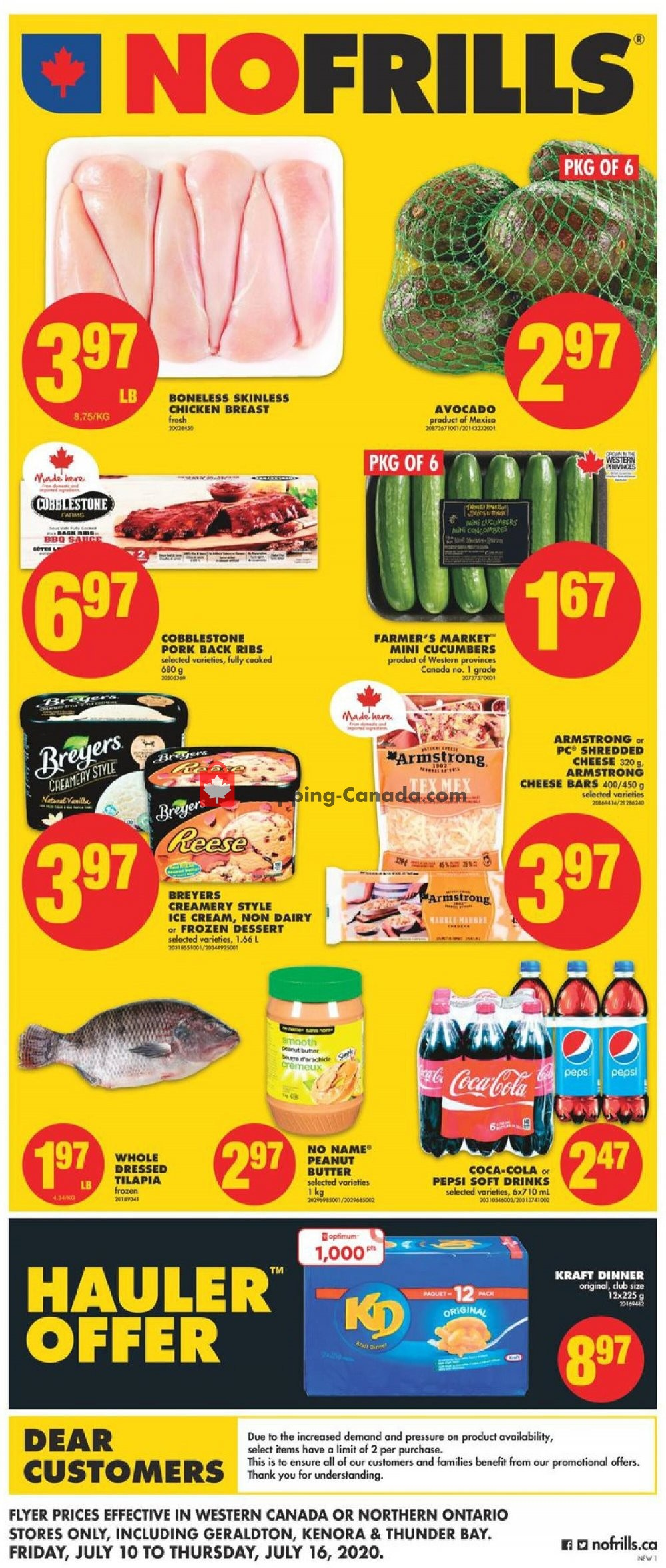 Flyer No Frills Canada - from Friday July 10, 2020 to Thursday July 16, 2020