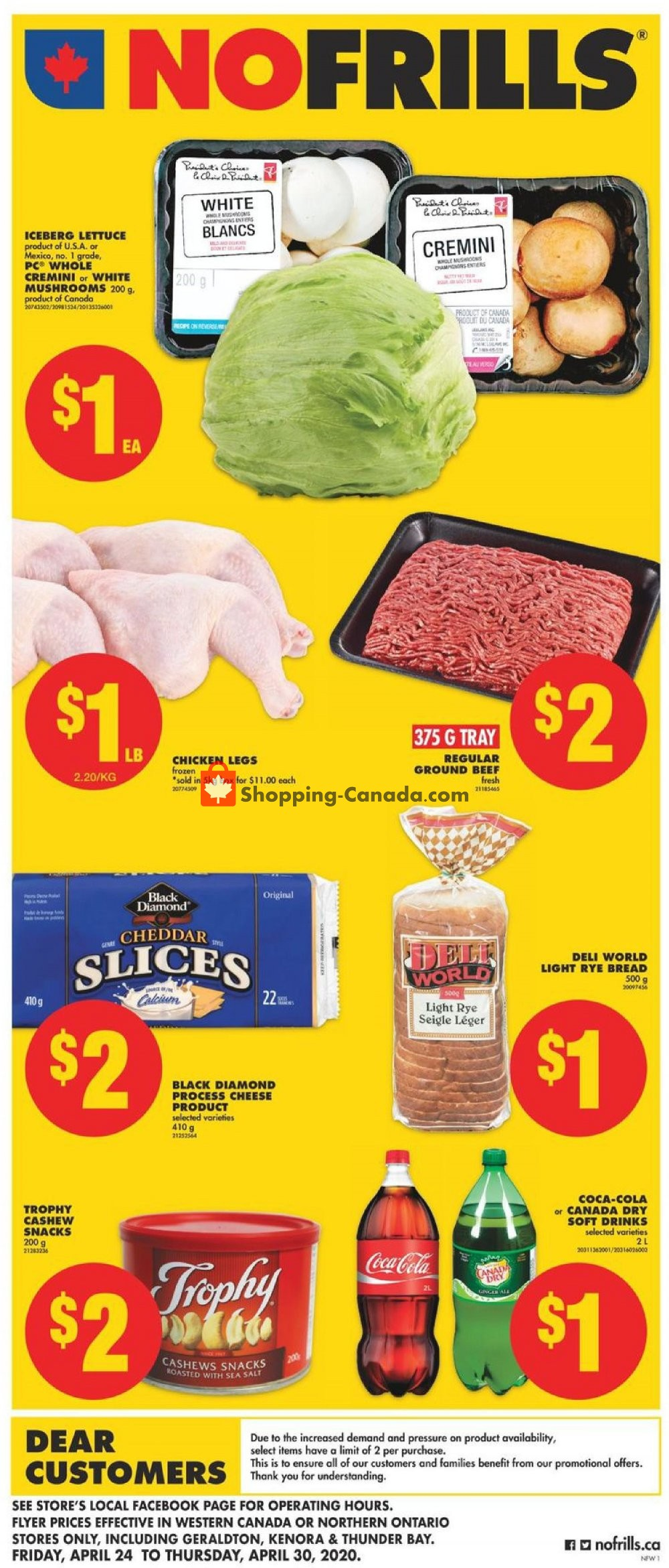 Flyer No Frills Canada - from Friday April 24, 2020 to Thursday April 30, 2020