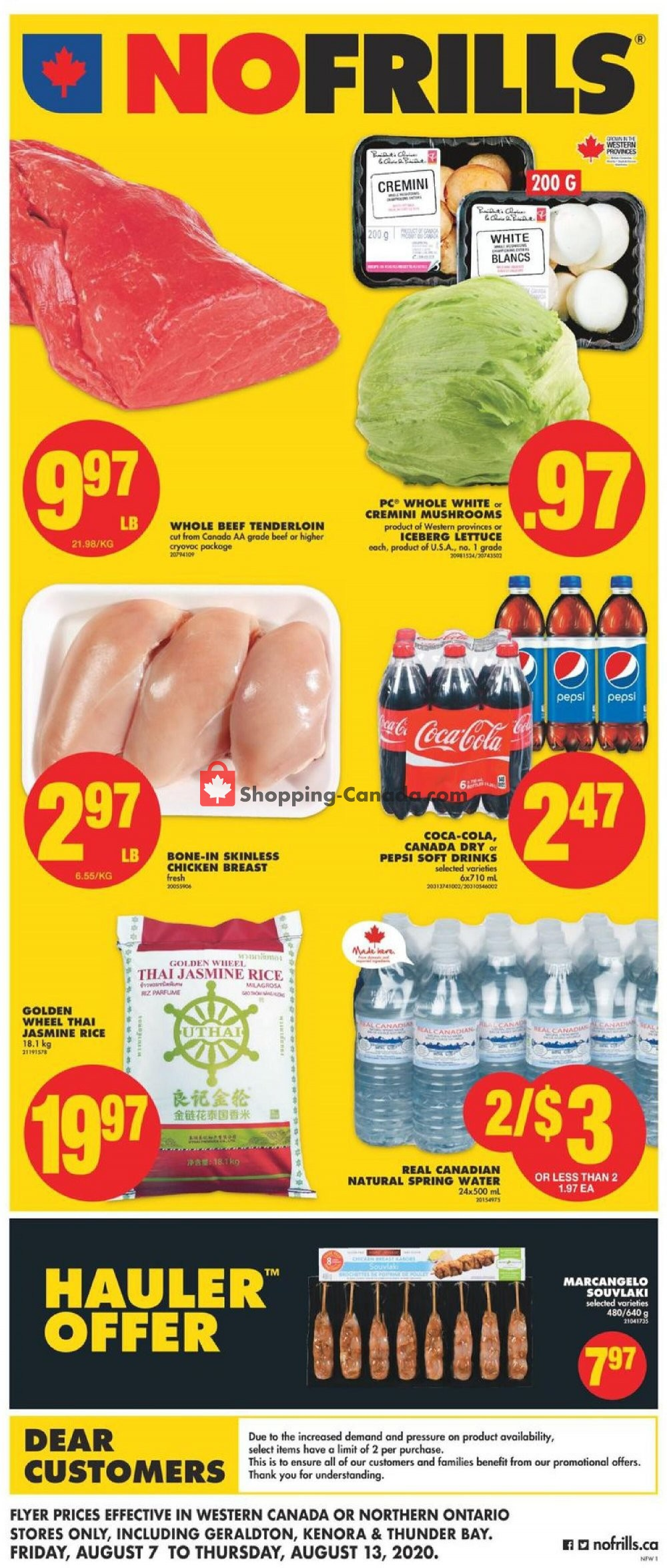 Flyer No Frills Canada - from Friday August 7, 2020 to Thursday August 13, 2020