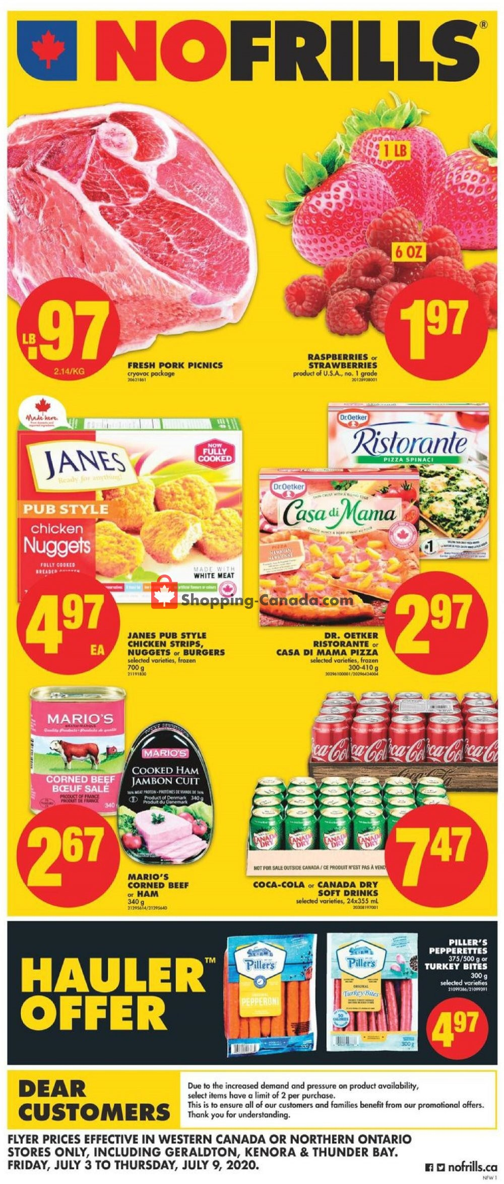 Flyer No Frills Canada - from Friday July 3, 2020 to Thursday July 9, 2020