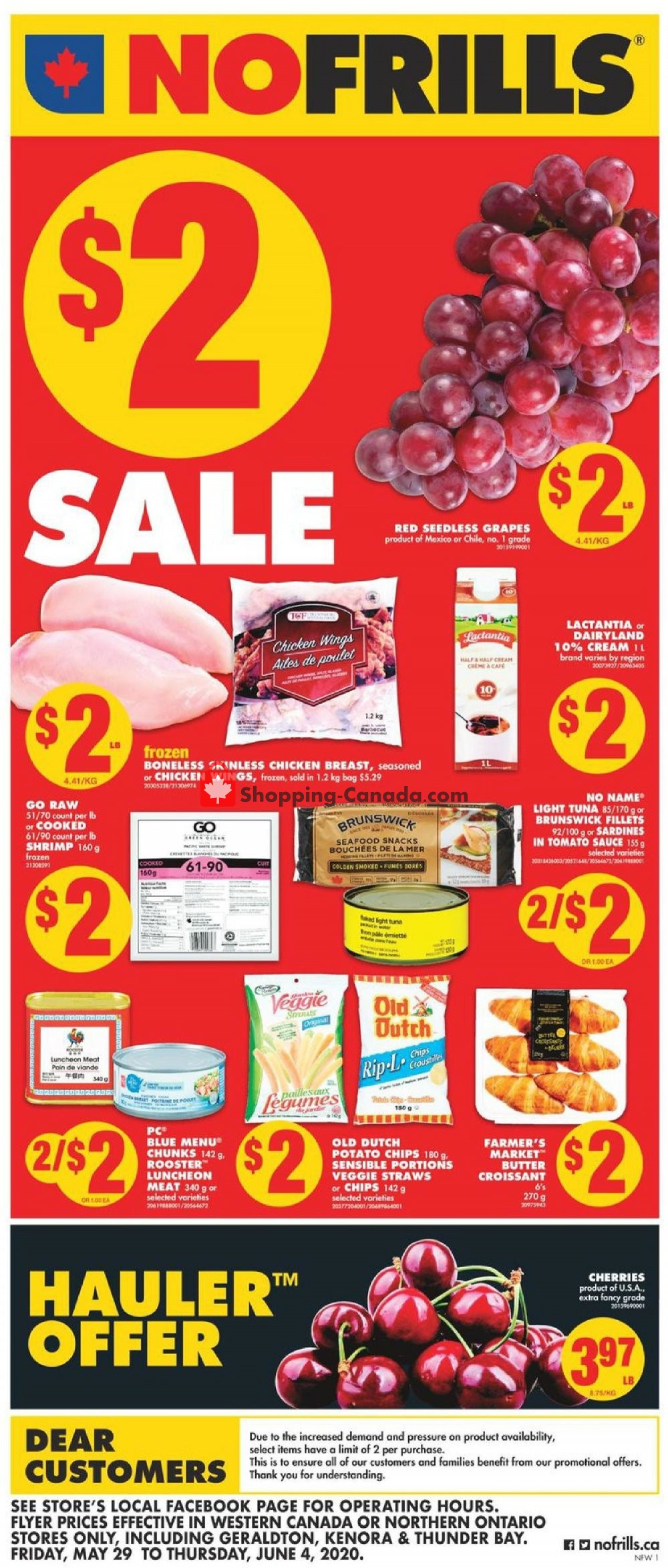 Flyer No Frills Canada - from Friday May 29, 2020 to Thursday June 4, 2020