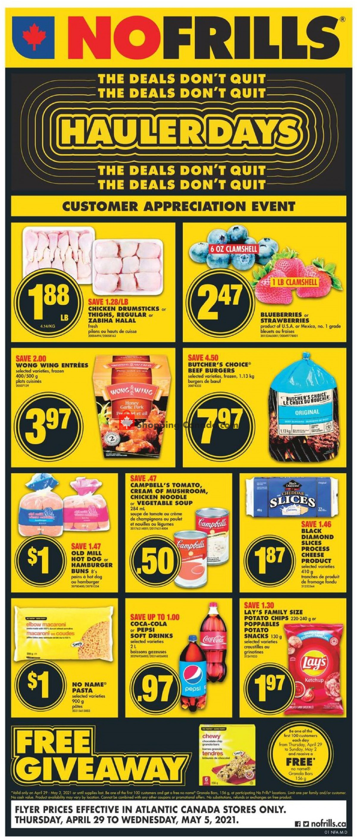 Flyer No Frills Canada - from Thursday April 29, 2021 to Wednesday May 5, 2021