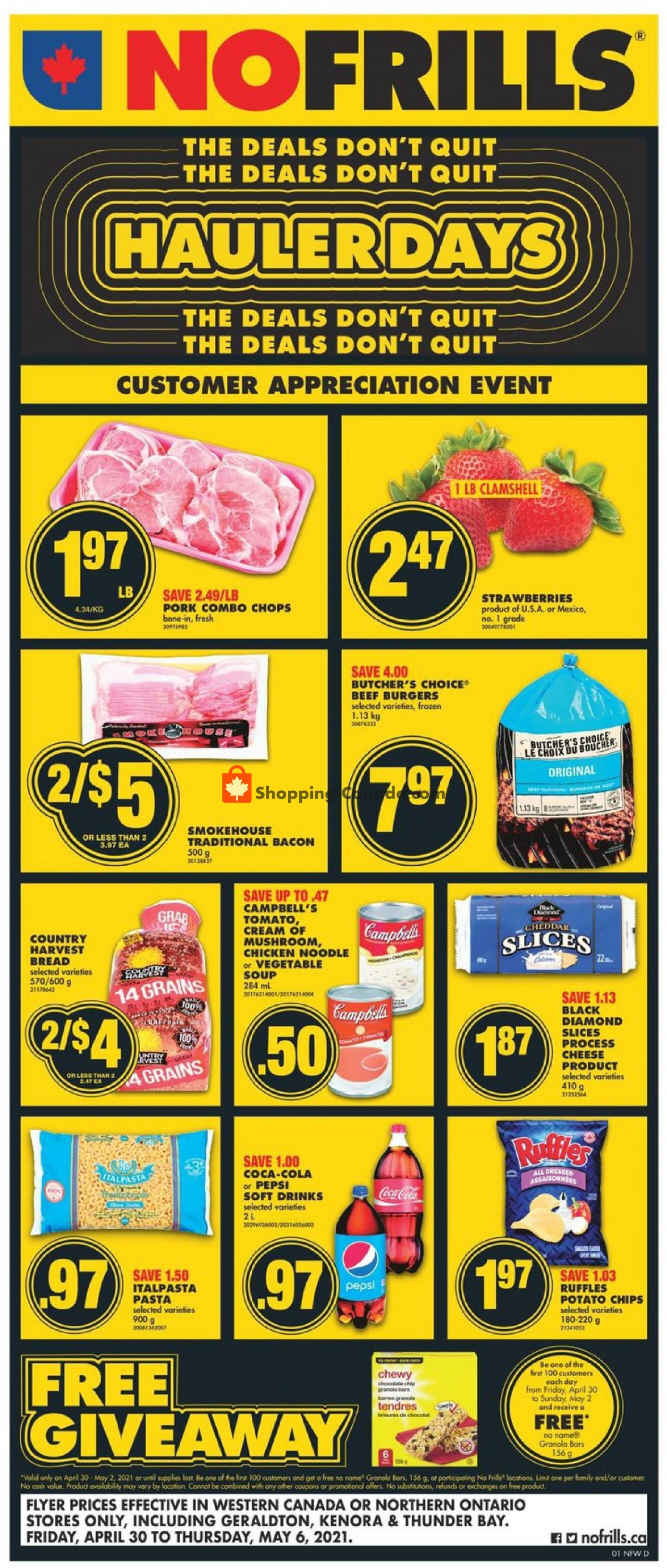 Flyer No Frills Canada - from Friday April 30, 2021 to Thursday May 6, 2021