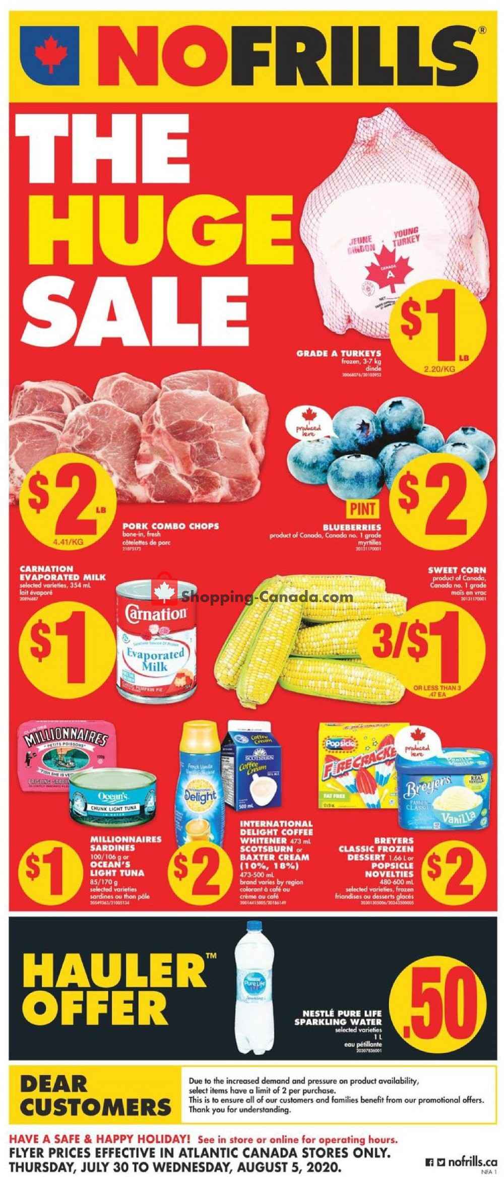 Flyer No Frills Canada - from Thursday July 30, 2020 to Wednesday August 5, 2020