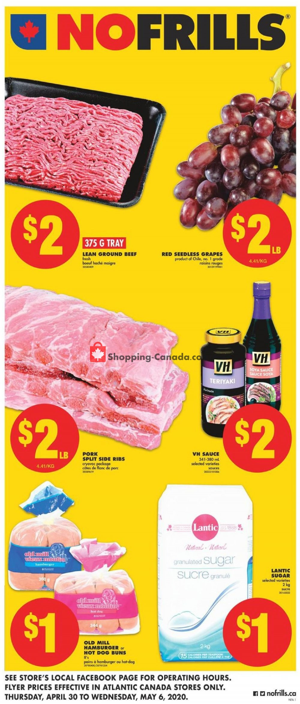 Flyer No Frills Canada - from Thursday April 30, 2020 to Wednesday May 6, 2020
