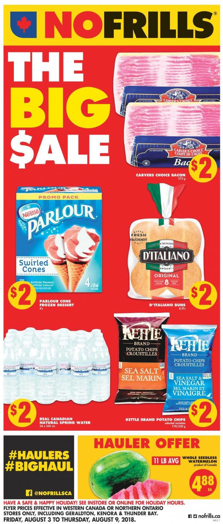 Flyer No Frills Canada - from Friday August 3, 2018 to Thursday August 9, 2018