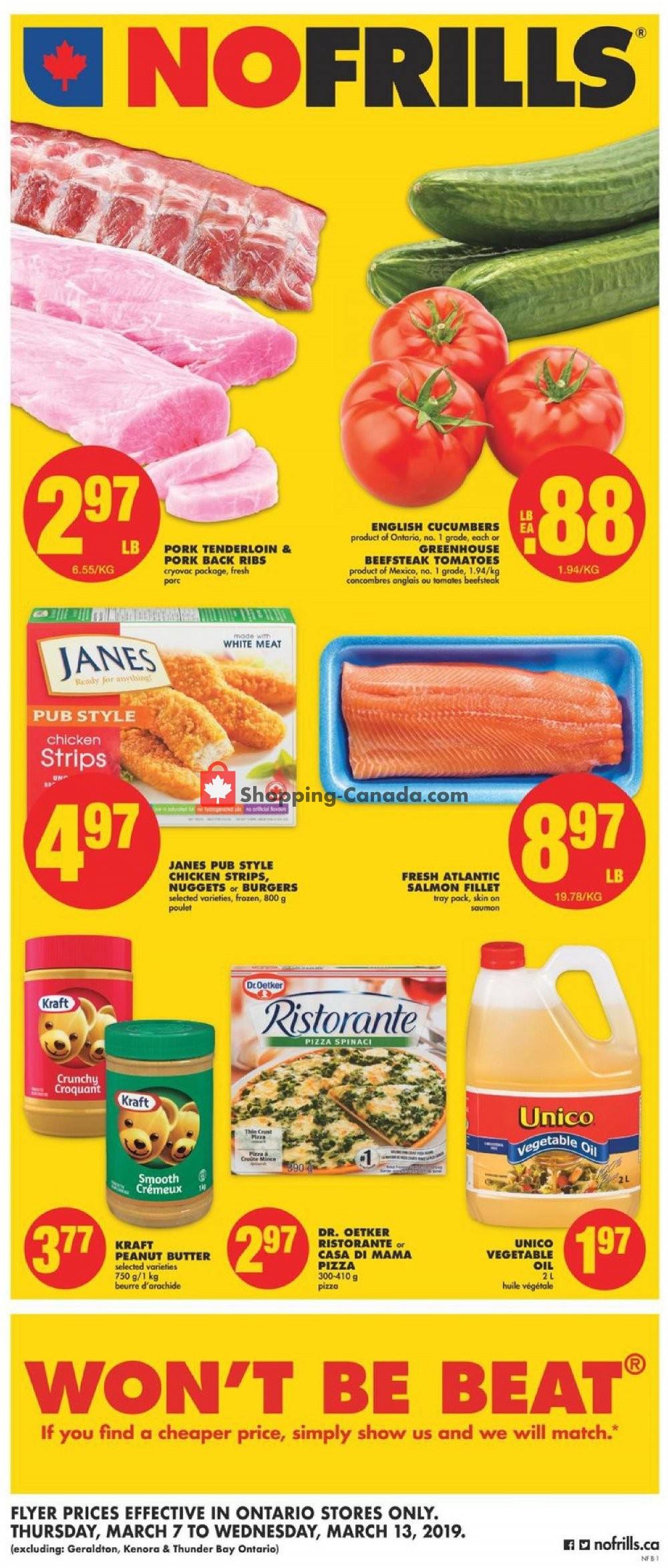 Flyer No Frills Canada - from Thursday March 7, 2019 to Wednesday March 13, 2019