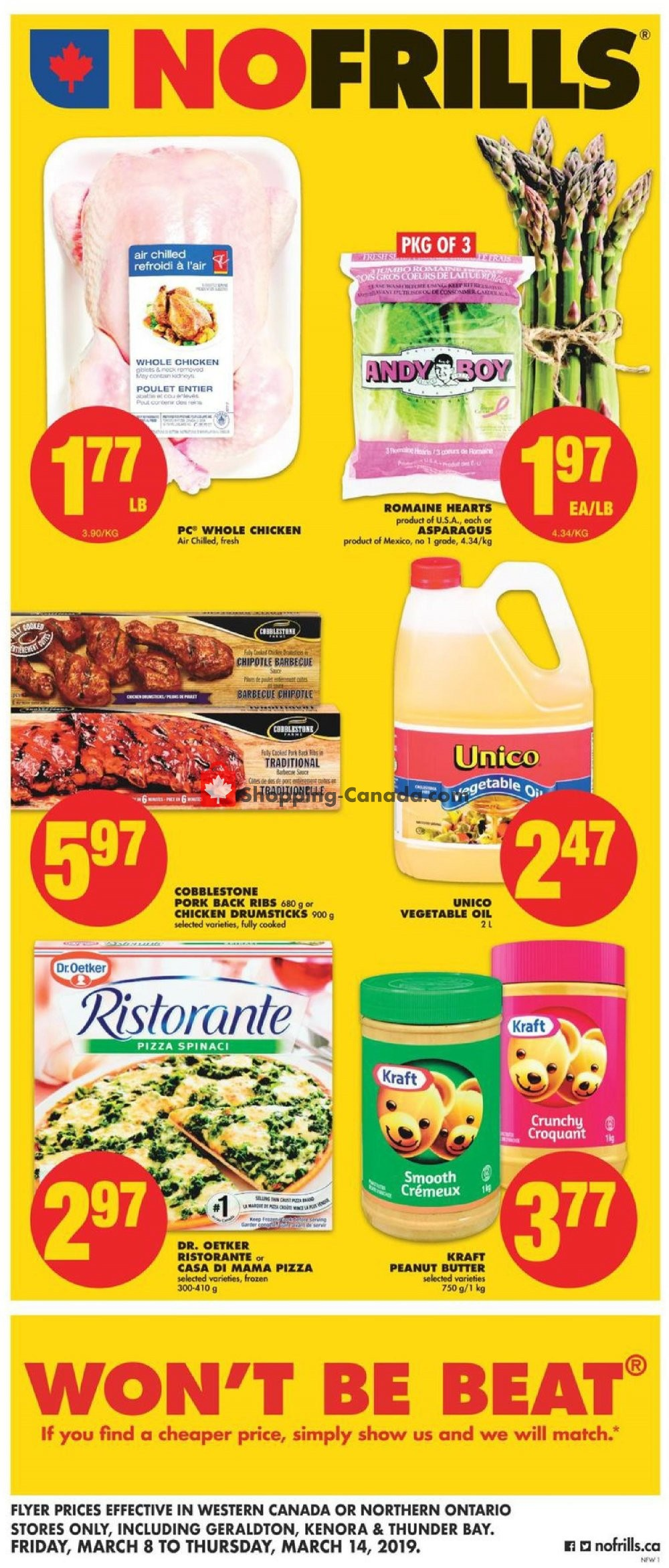Flyer No Frills Canada - from Friday March 8, 2019 to Thursday March 14, 2019