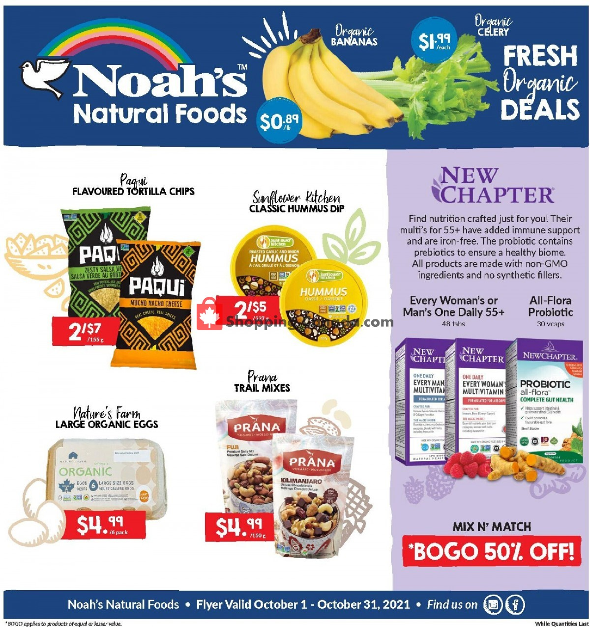 Flyer Noah's Natural Foods Canada - from Friday October 1, 2021 to Sunday October 31, 2021