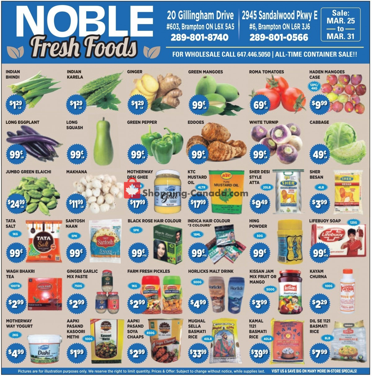 Flyer Noble Fresh Foods Canada - from Thursday March 25, 2021 to Wednesday March 31, 2021