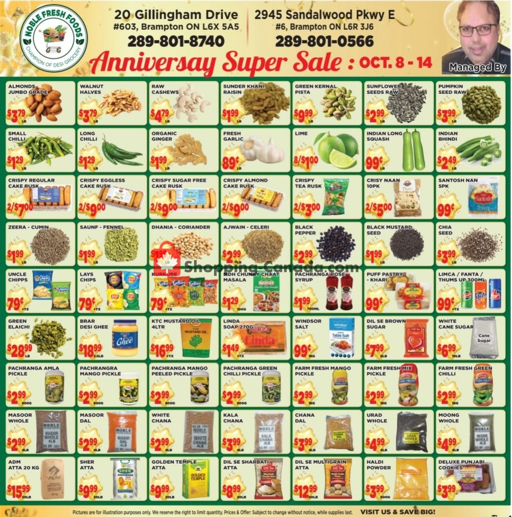 Flyer Noble Fresh Foods Canada - from Thursday October 8, 2020 to Wednesday October 14, 2020
