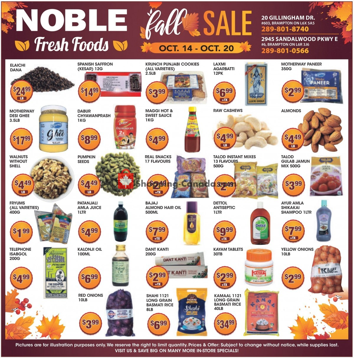 Flyer Noble Fresh Foods Canada - from Thursday October 14, 2021 to Wednesday October 20, 2021