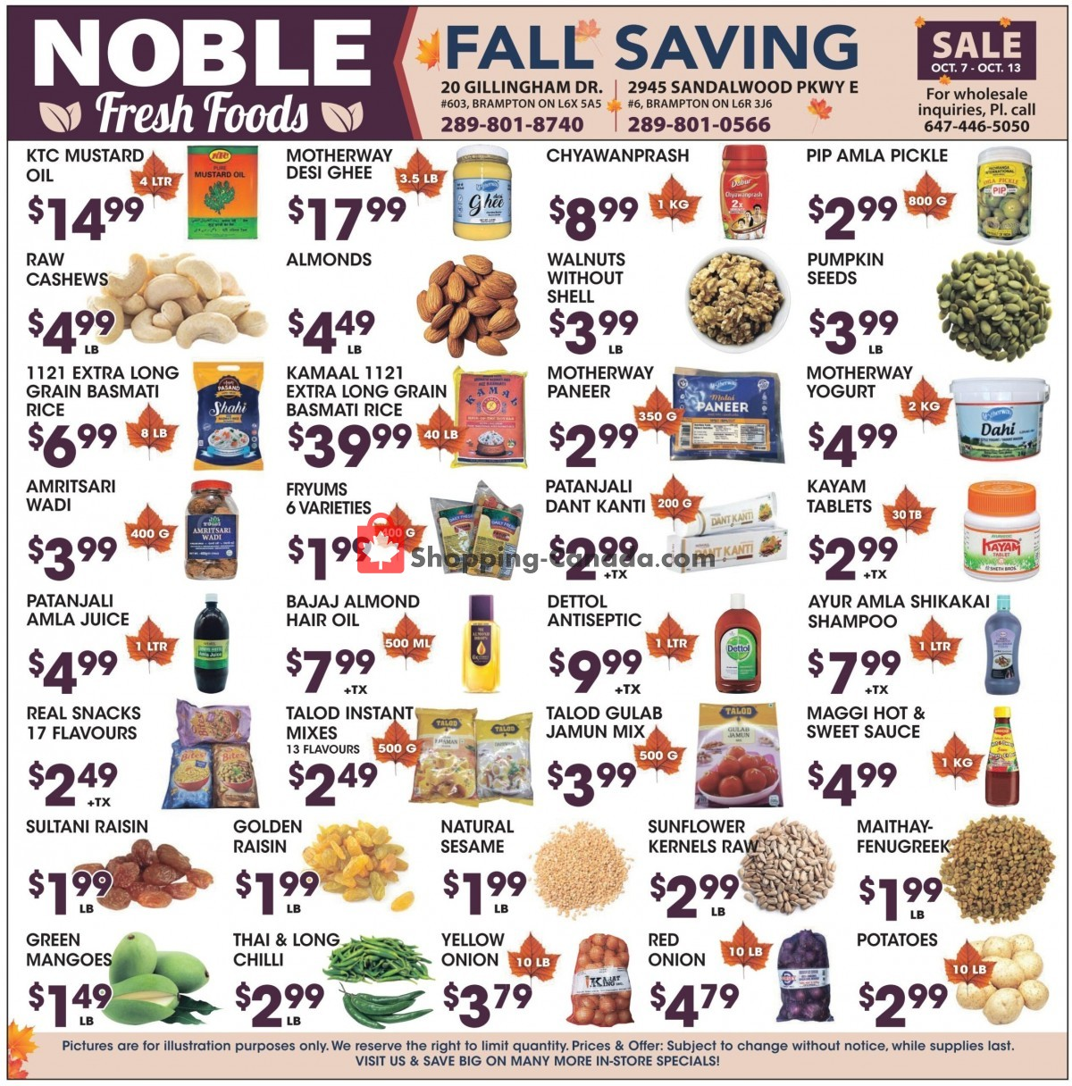 Flyer Noble Fresh Foods Canada - from Thursday October 7, 2021 to Wednesday October 13, 2021