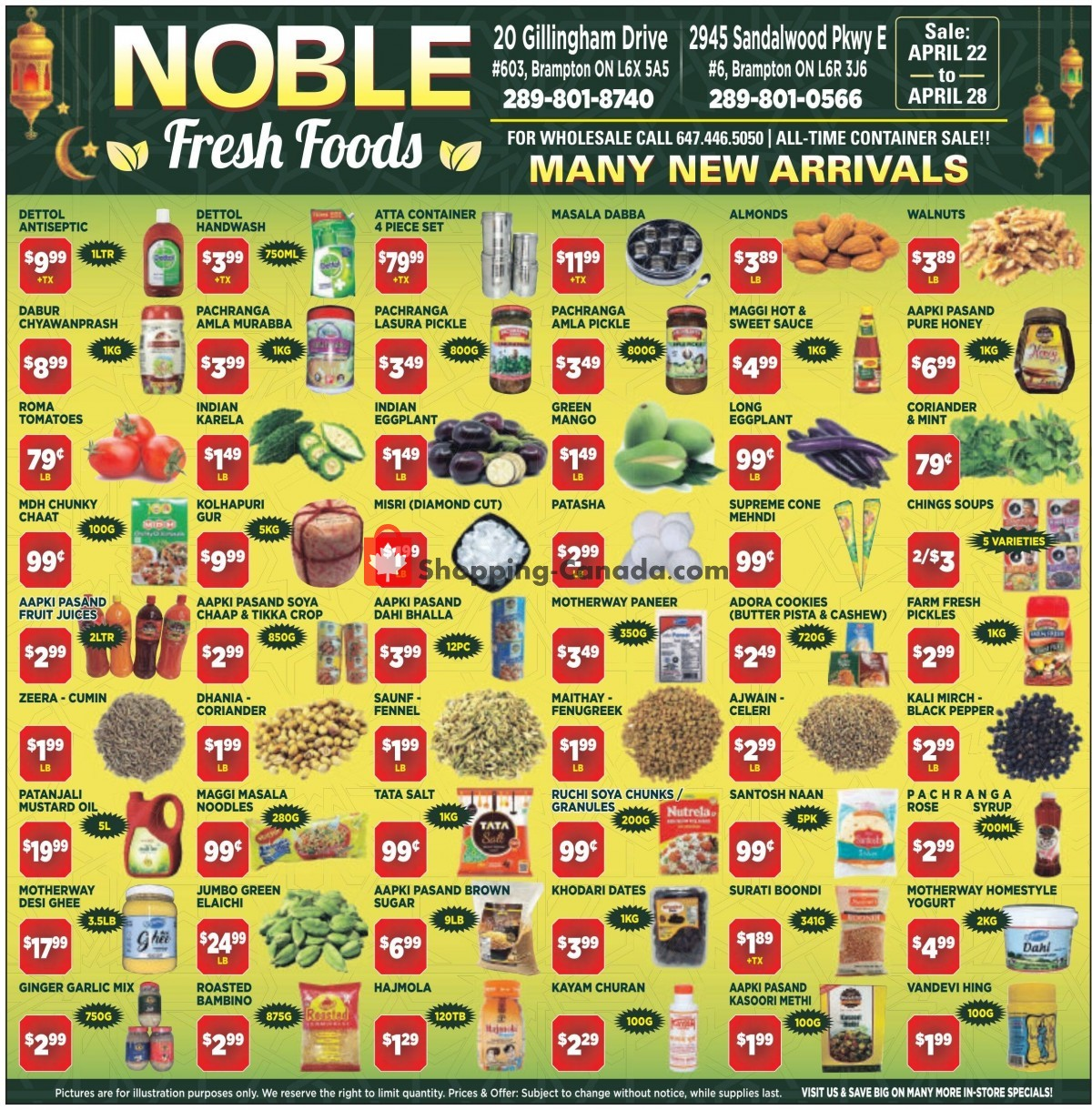 Flyer Noble Fresh Foods Canada - from Thursday April 22, 2021 to Wednesday April 28, 2021