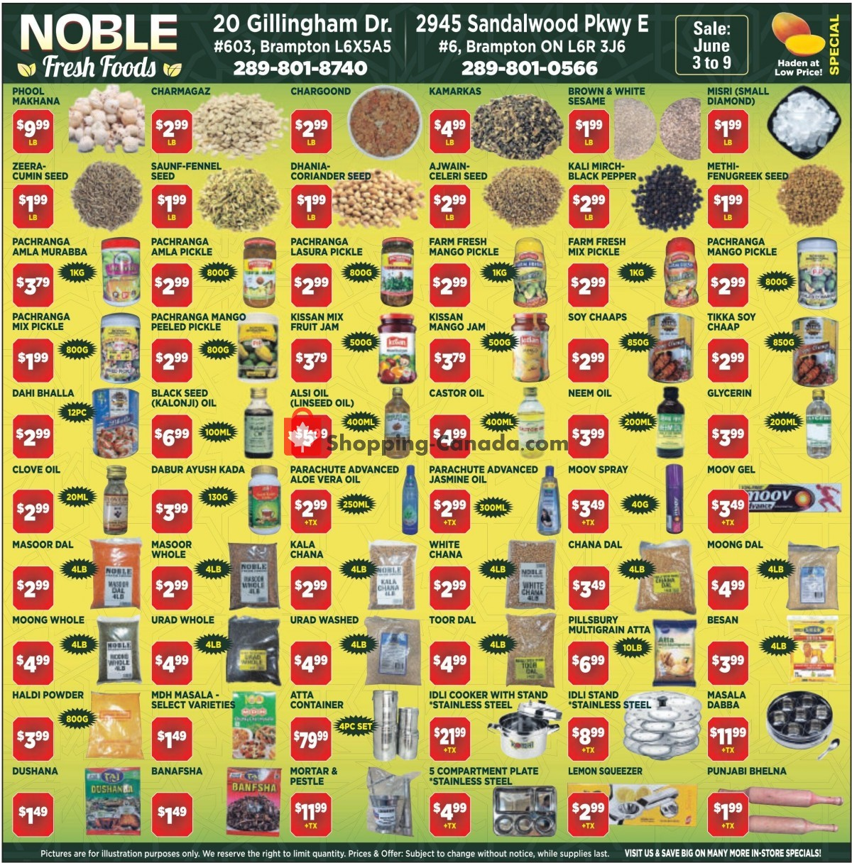 Flyer Noble Fresh Foods Canada - from Thursday June 3, 2021 to Wednesday June 9, 2021