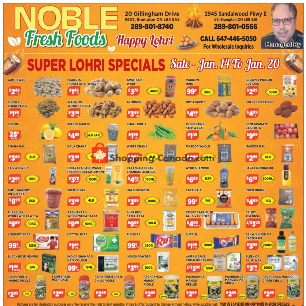 Flyer Noble Fresh Foods Canada - from Thursday January 14, 2021 to Wednesday January 20, 2021