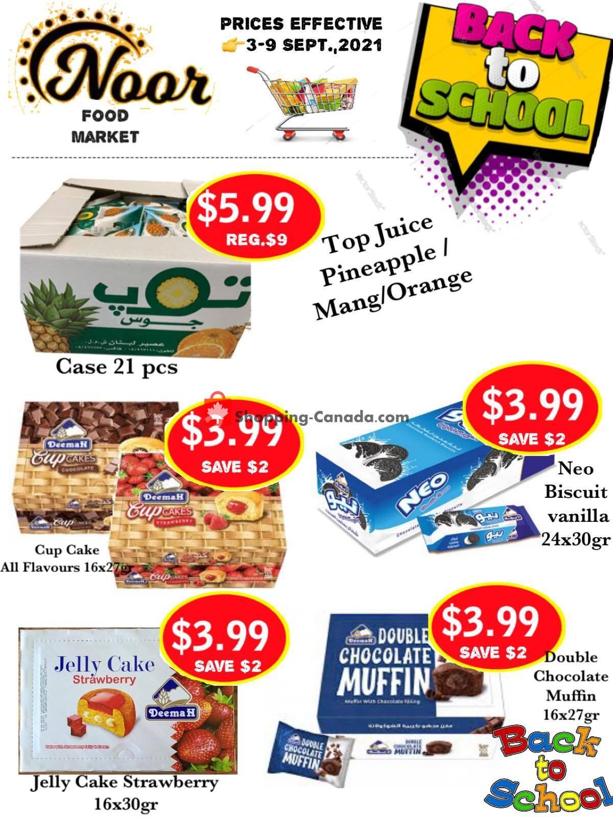 Flyer Noor Food Market Canada - from Friday September 3, 2021 to Thursday September 9, 2021
