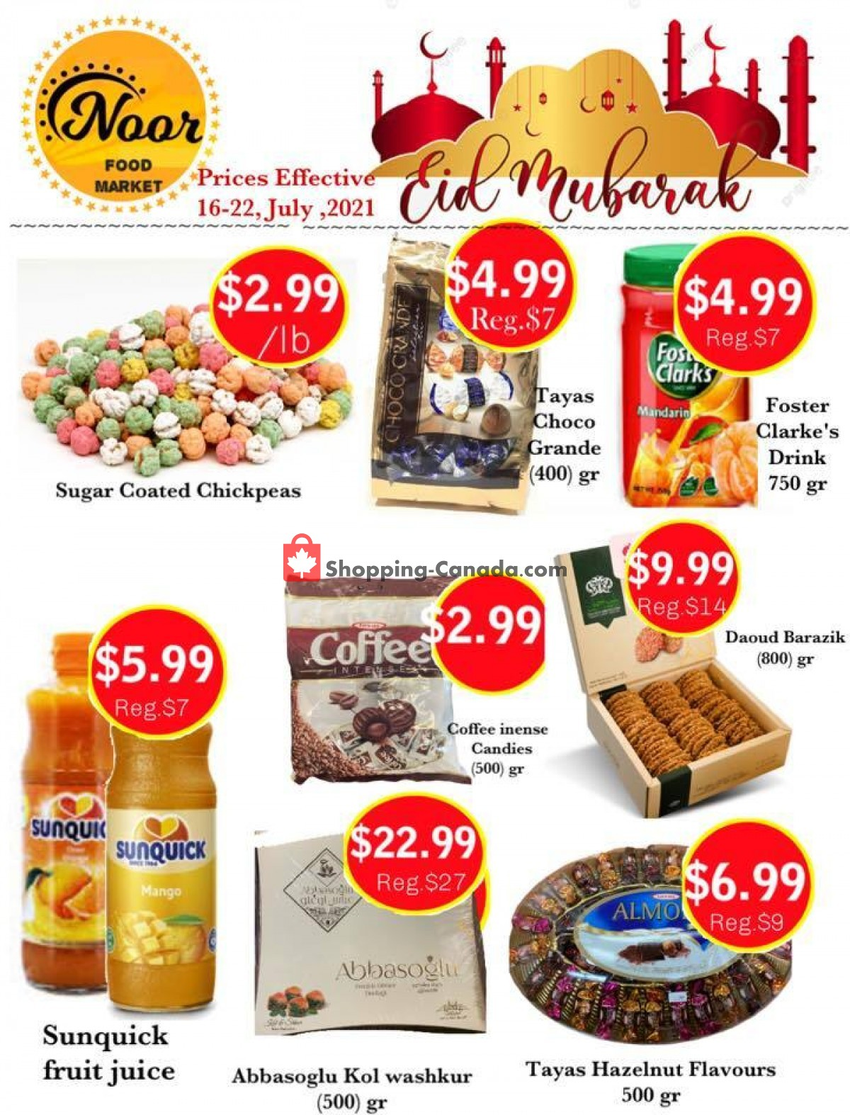 Flyer Noor Food Market Canada - from Friday July 16, 2021 to Thursday July 22, 2021