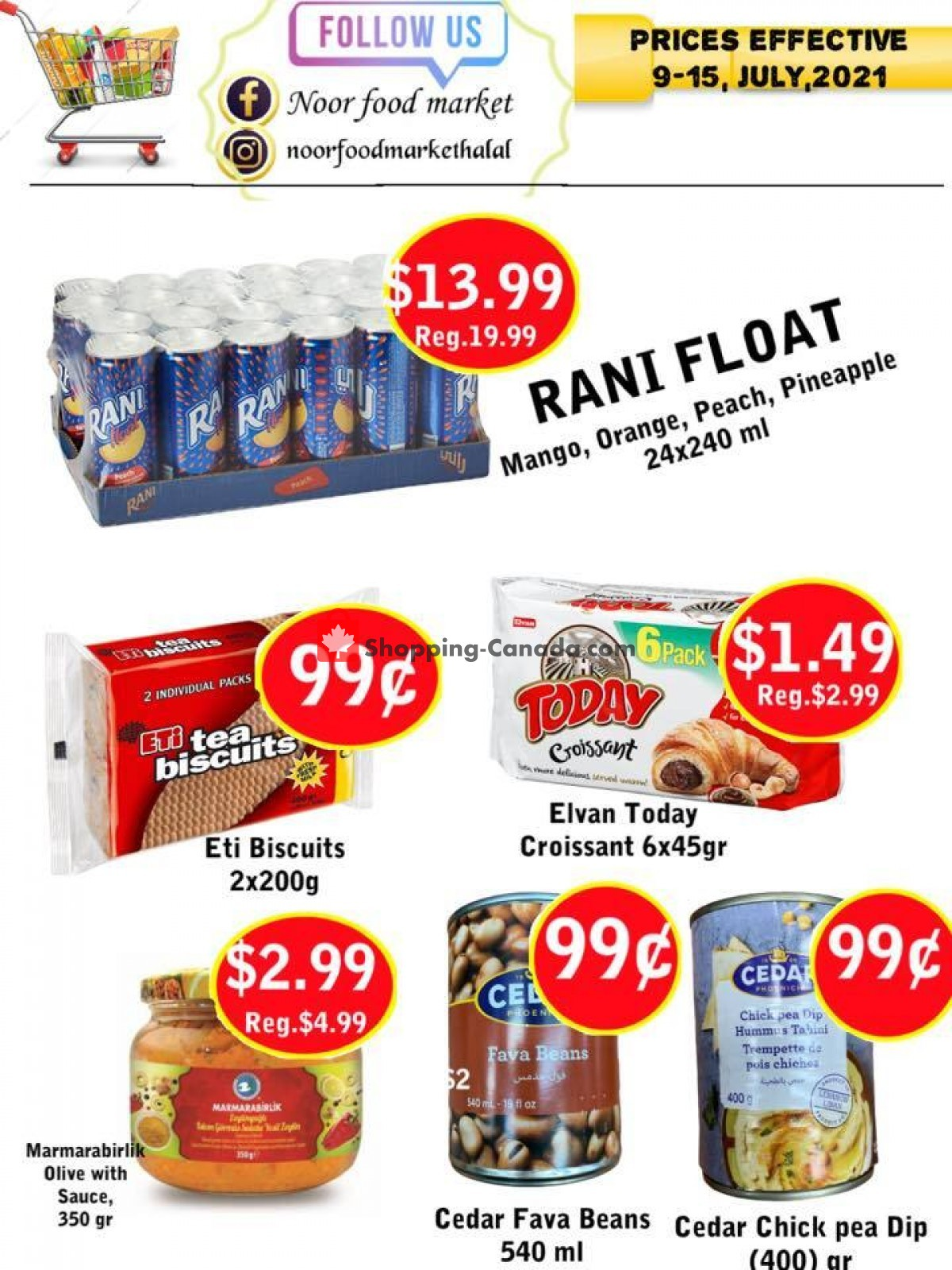 Flyer Noor Food Market Canada - from Friday July 9, 2021 to Thursday July 15, 2021